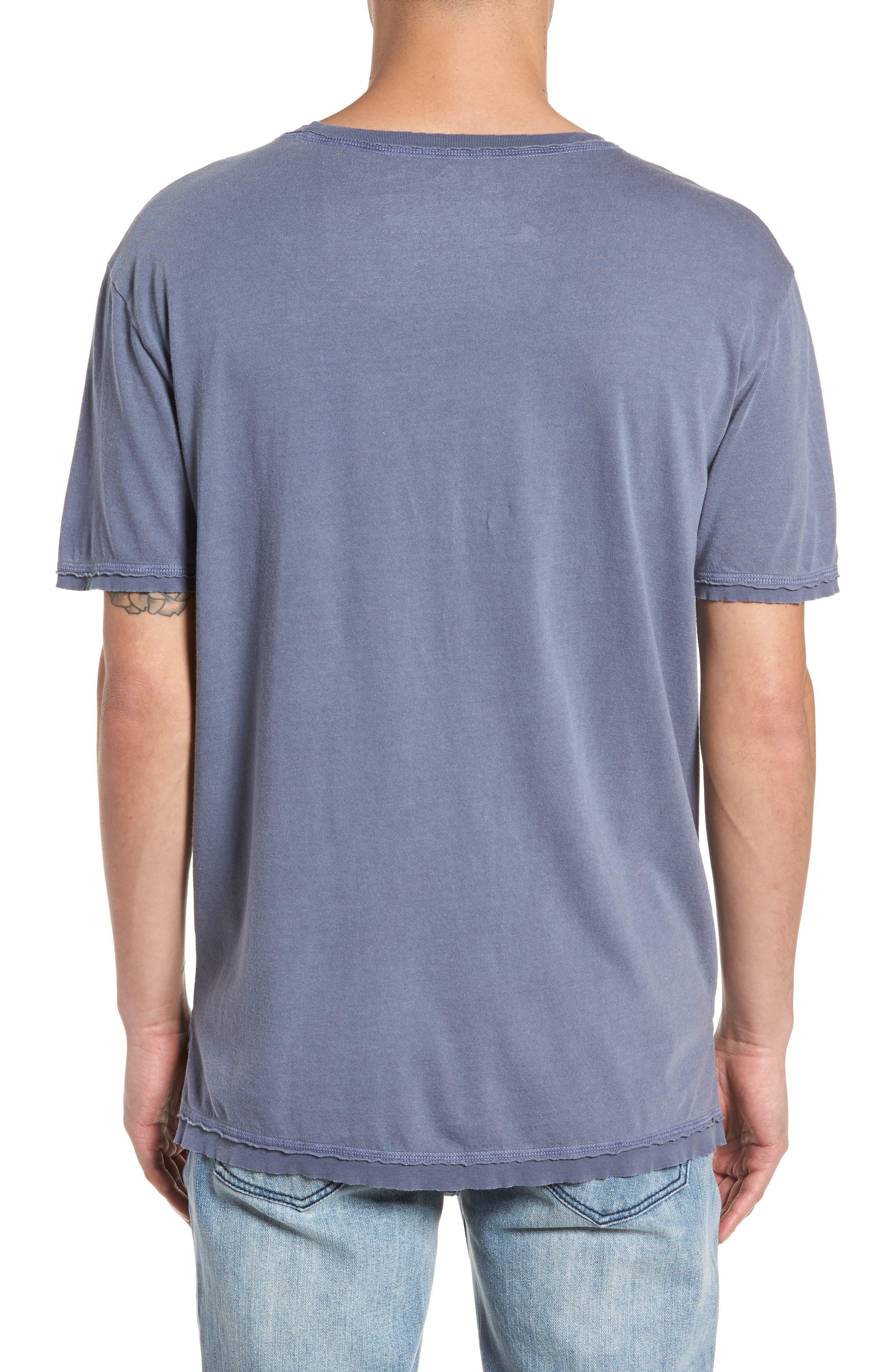 Raw Hem T-Shirt,                             Alternate thumbnail 2, color,                             Blue Indigo