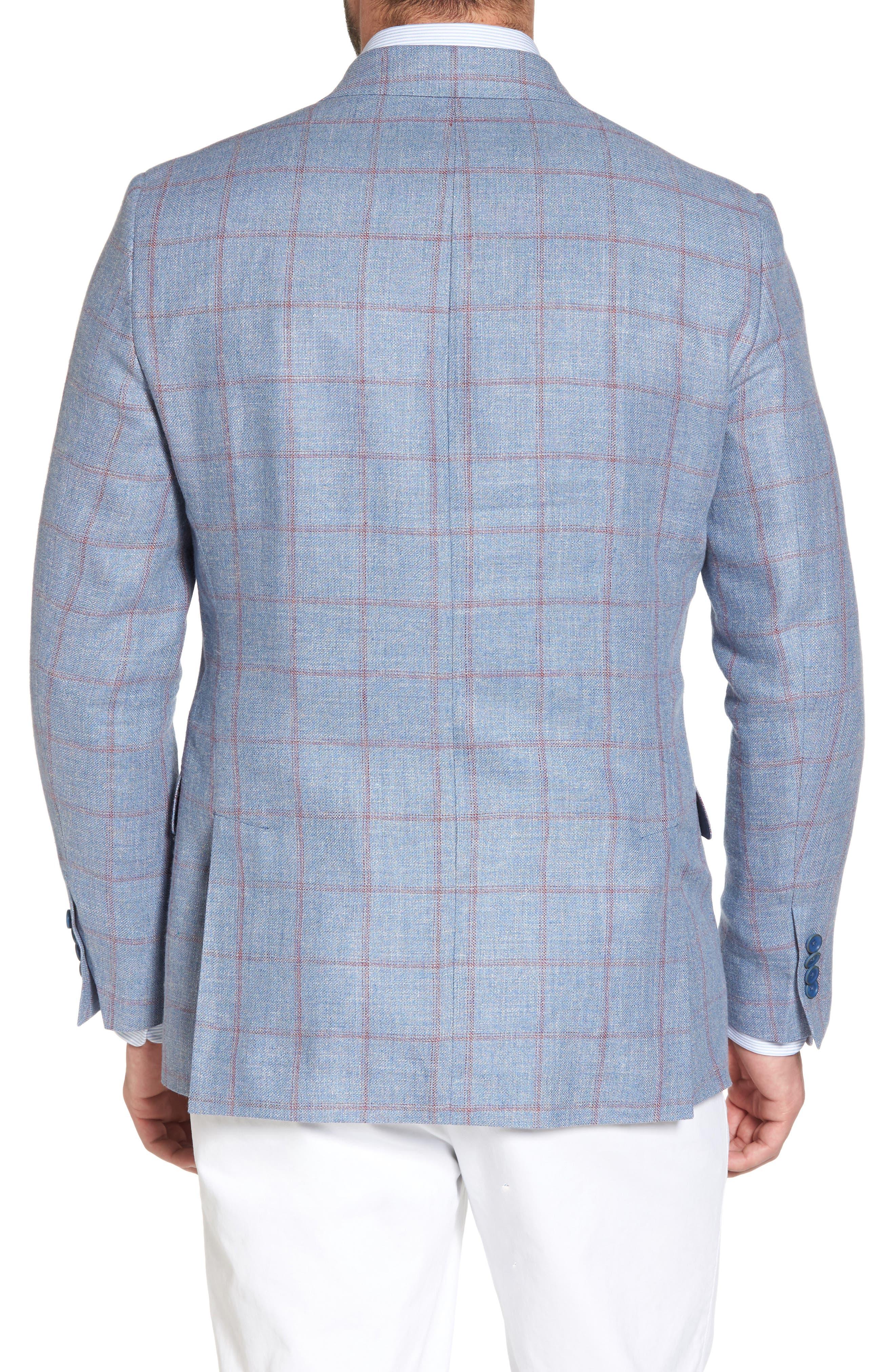 Classic Fit Check Sport Coat,                             Alternate thumbnail 2, color,                             Medium Blue