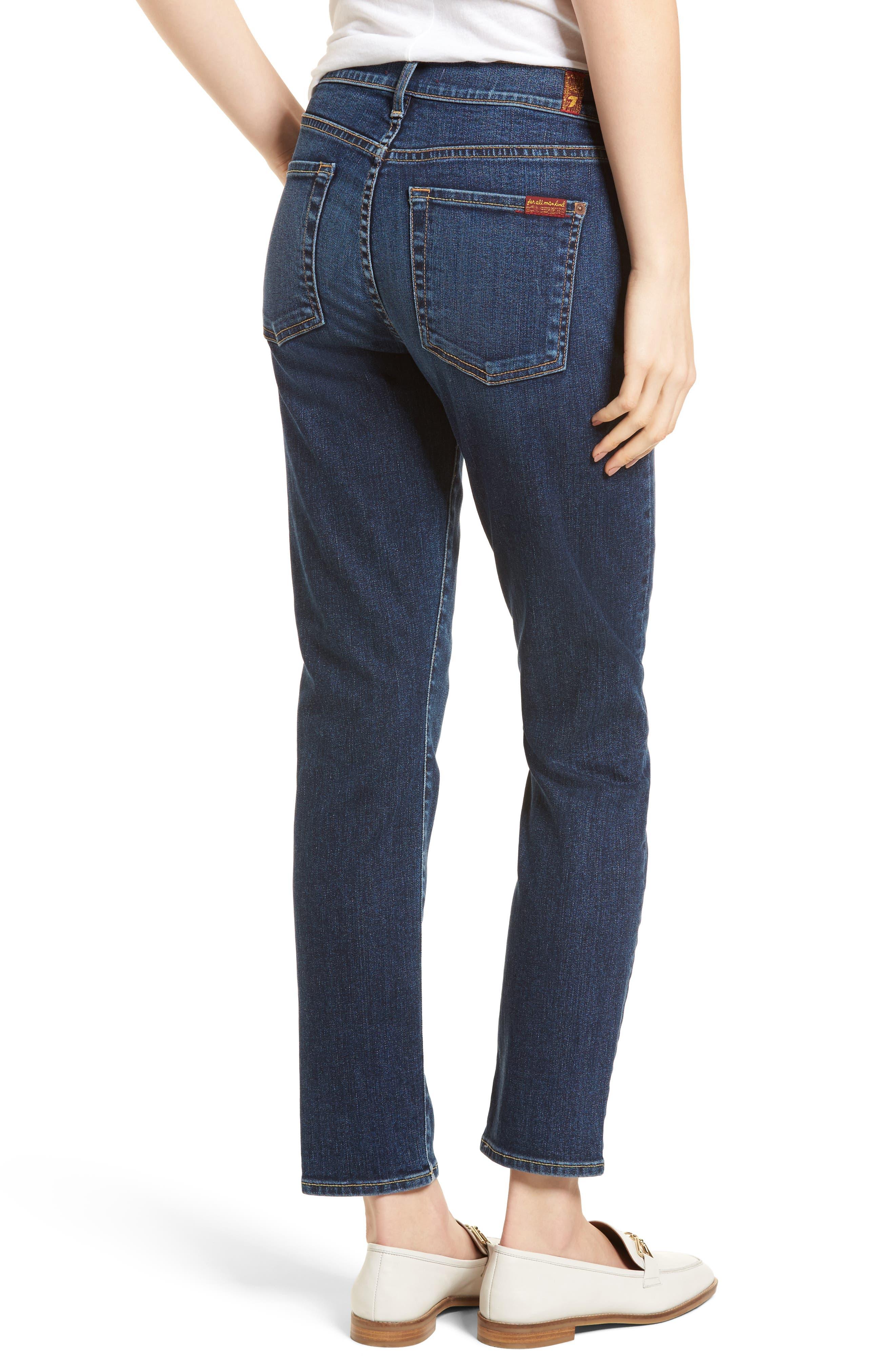 Roxanne Pieced Pocket Ankle Skinny Jeans,                             Alternate thumbnail 2, color,                             Midnight Desert