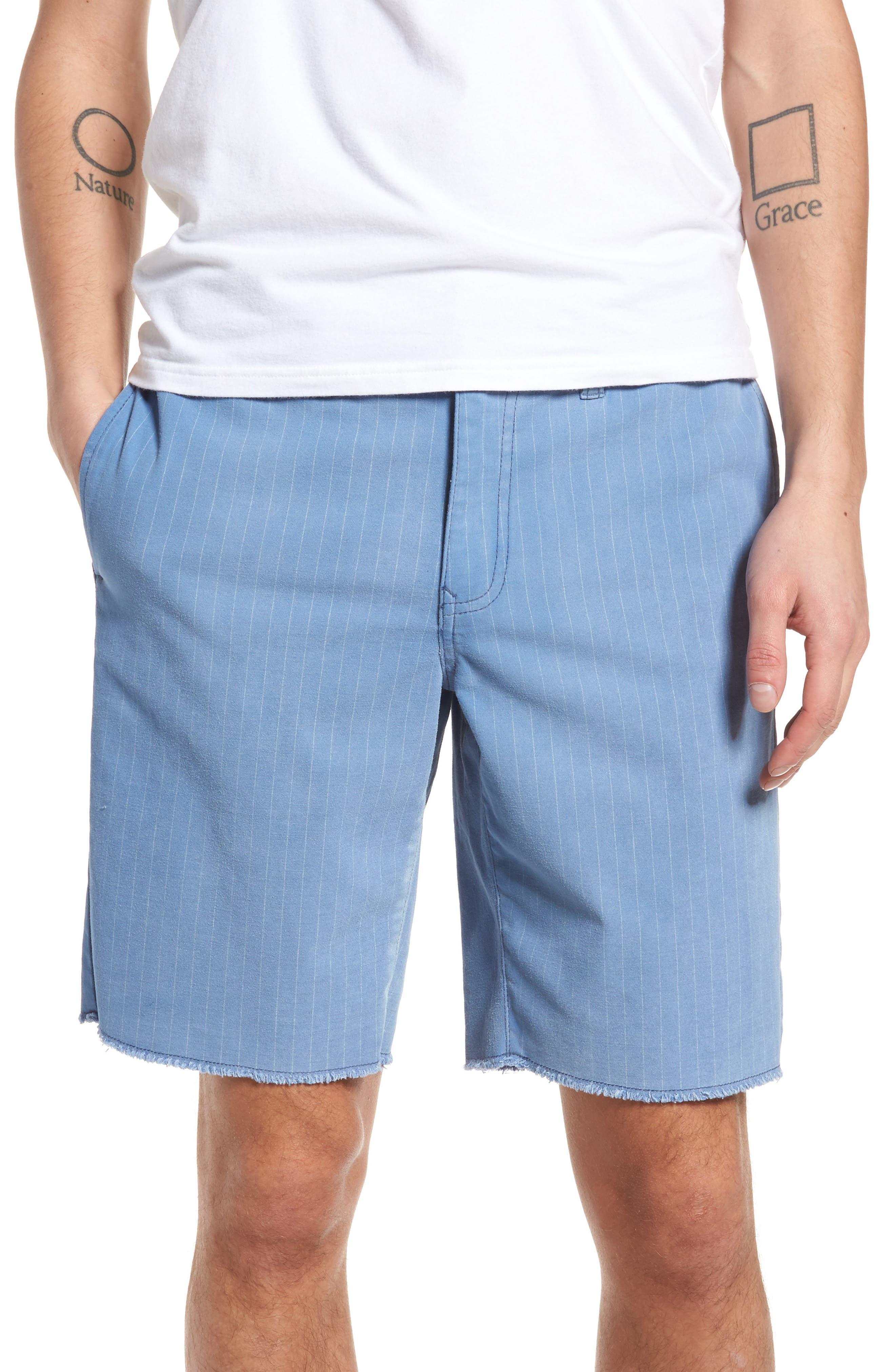 Print Frost Wash Shorts,                             Main thumbnail 1, color,                             Blue Camp Stripe