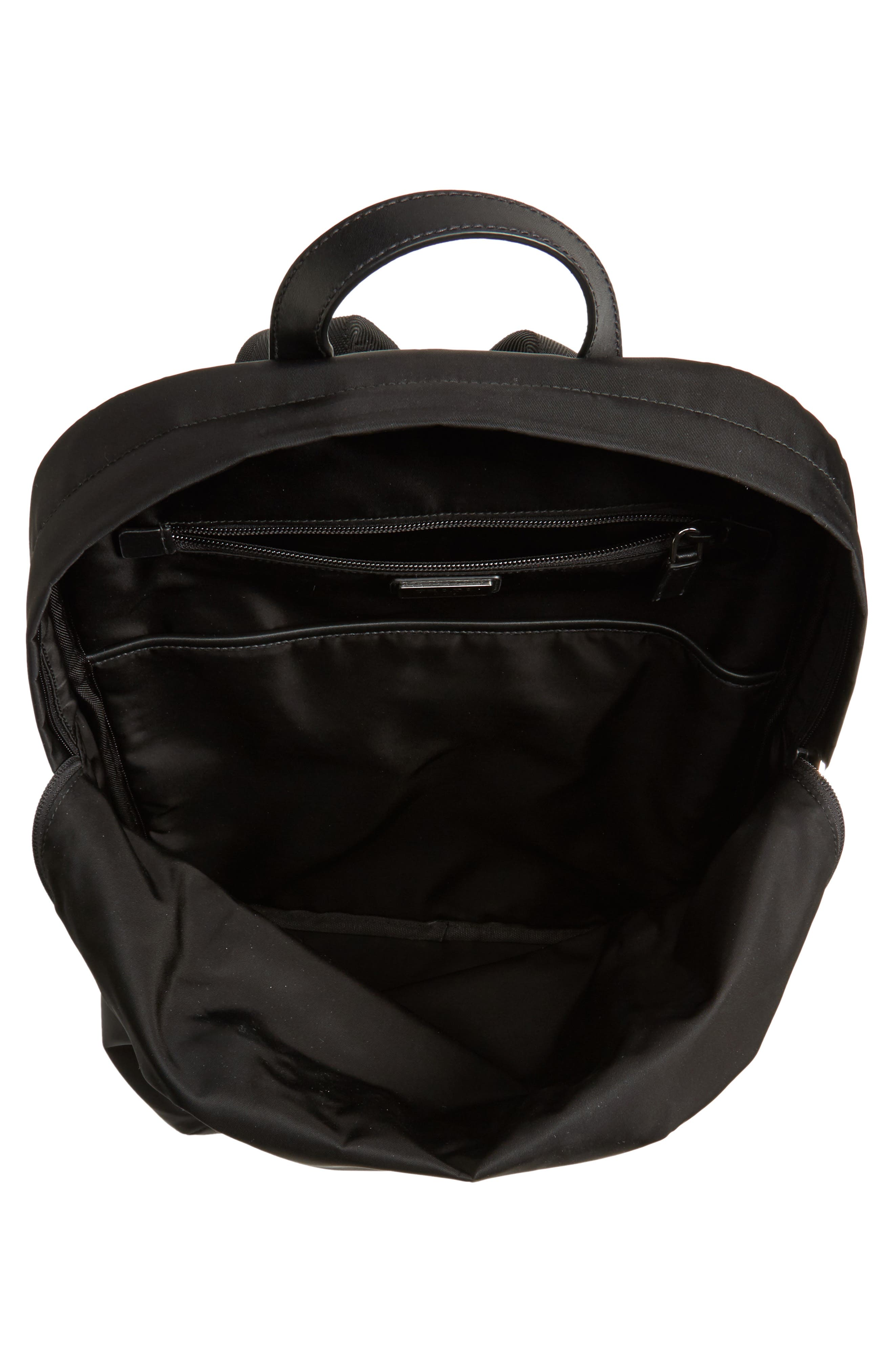Nylon Backpack,                             Alternate thumbnail 4, color,                             Black