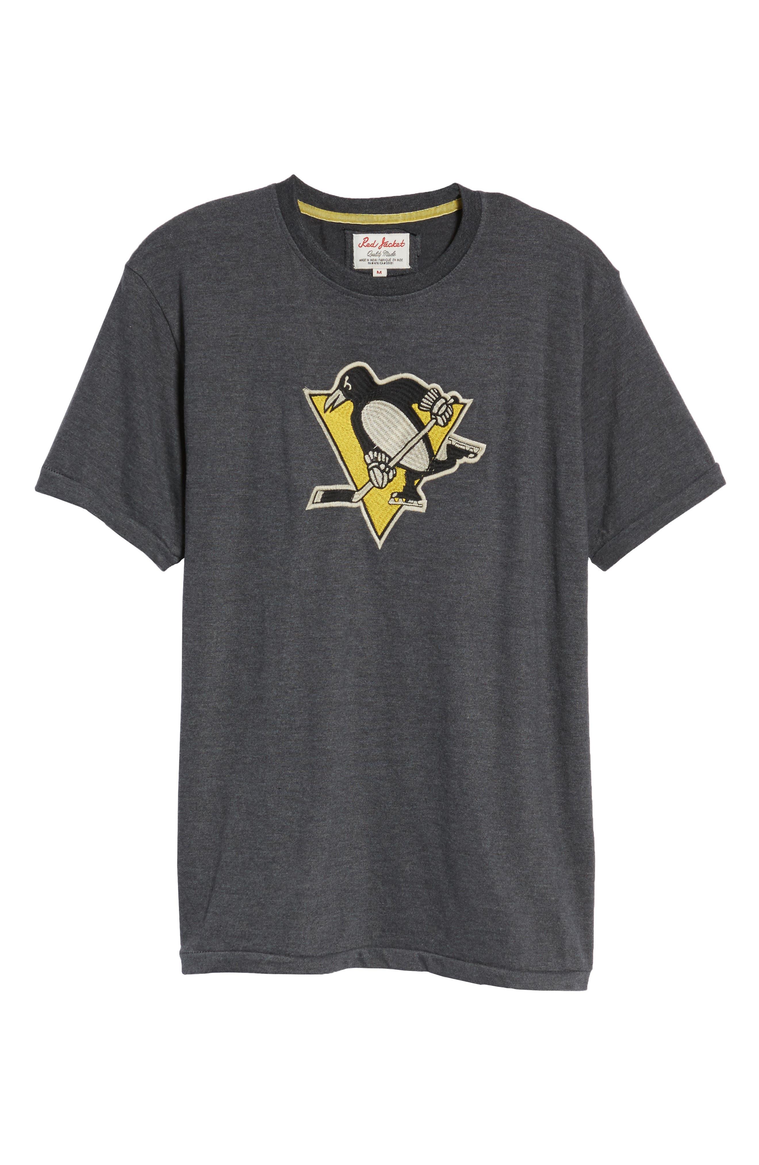Hillwood Penguins T-Shirt,                             Alternate thumbnail 6, color,                             Heather Black