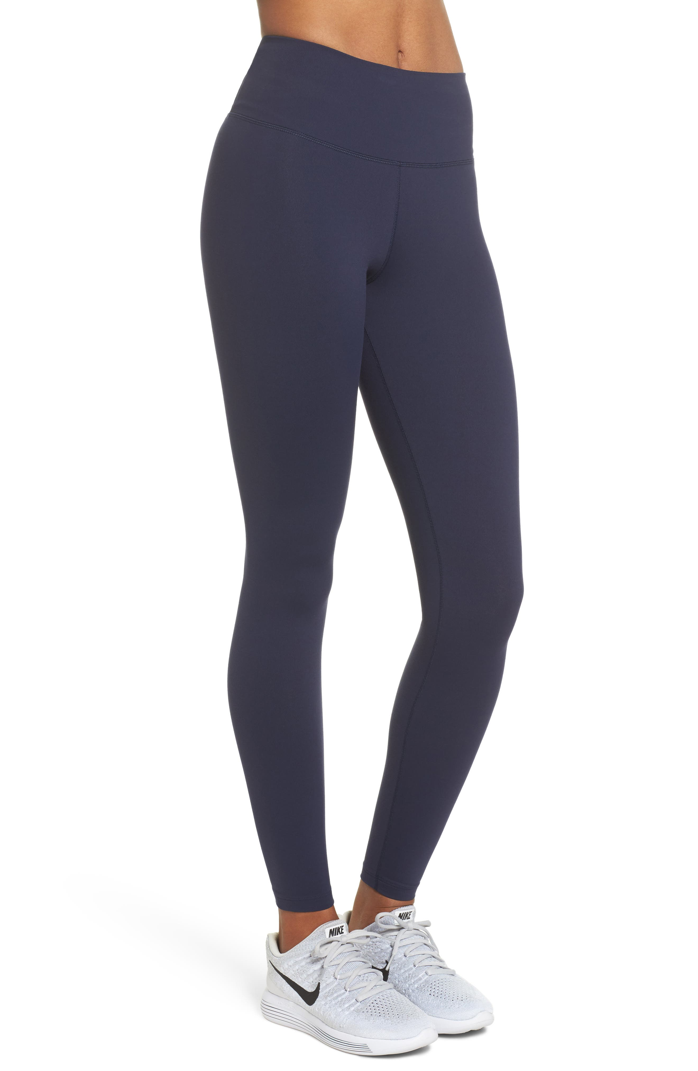 Sculpt Lux Training Tights,                             Alternate thumbnail 3, color,                             Obsidian/Clear