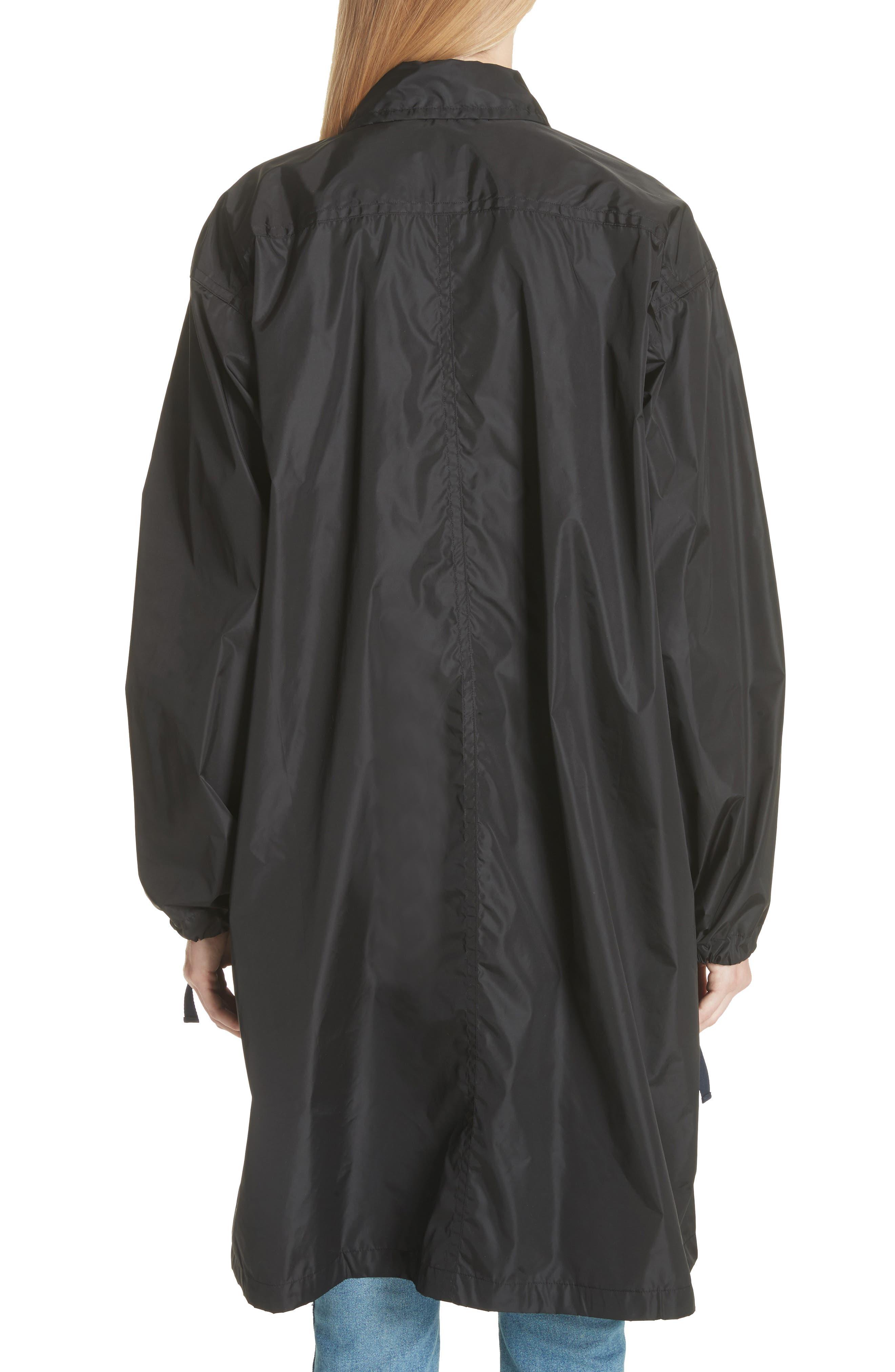 Raincoat with Inside Suspenders,                             Alternate thumbnail 3, color,                             Black