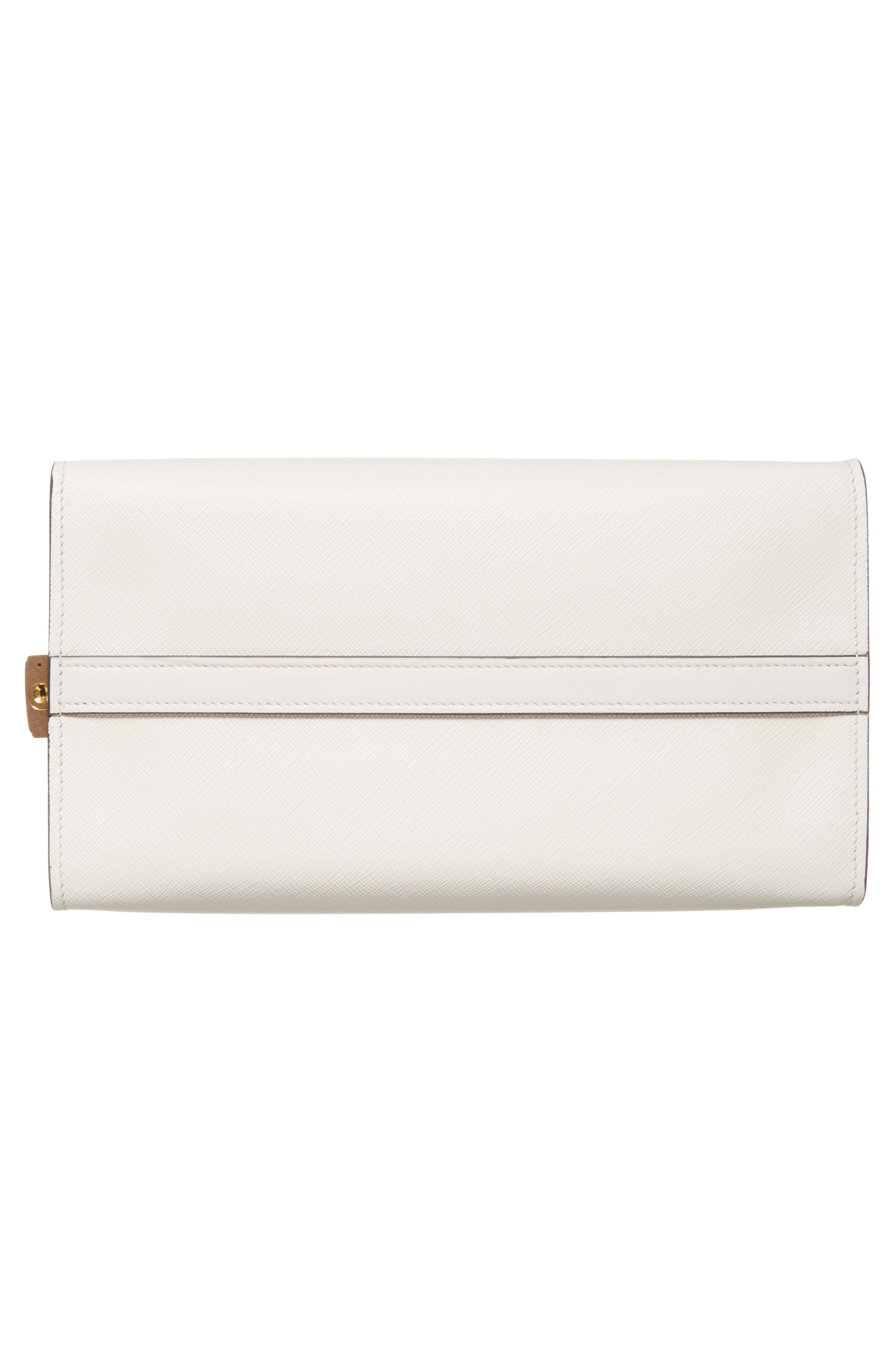 Medium Esplanade Leather Satchel,                             Alternate thumbnail 6, color,                             Bianco/Nero