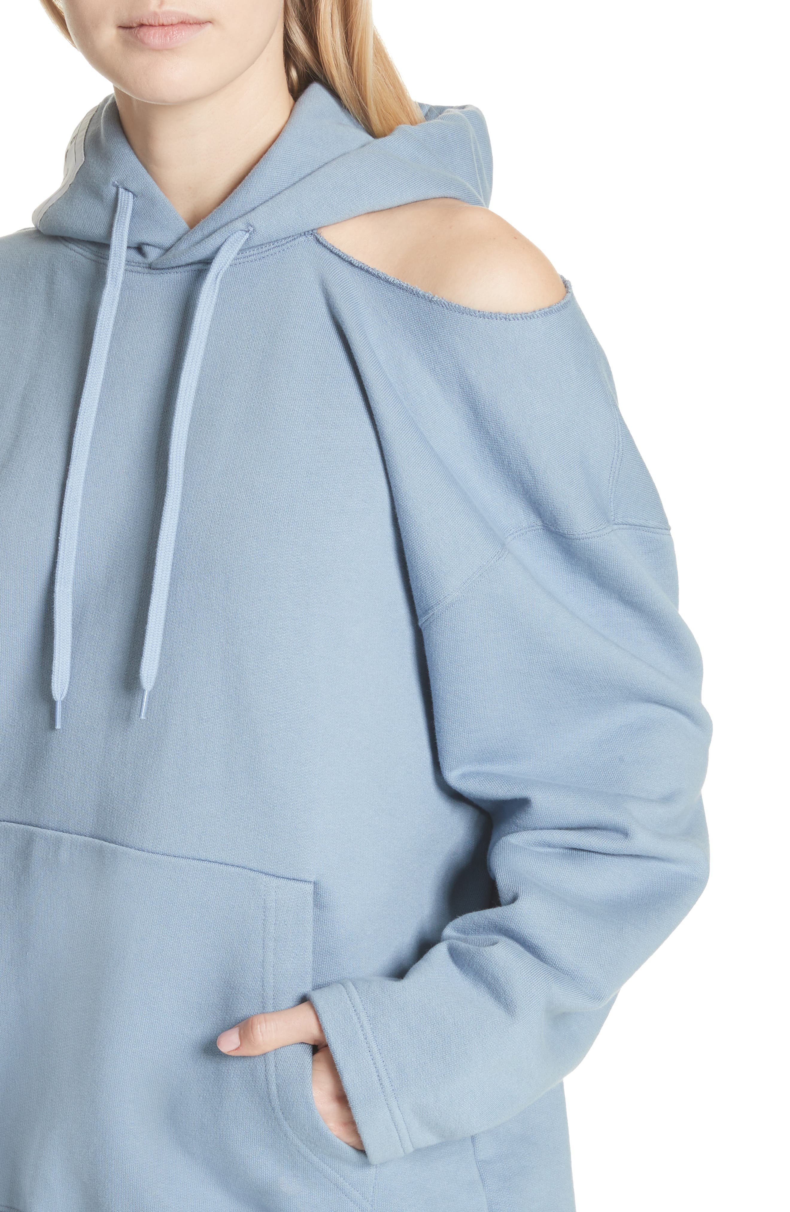 Alternate Image 4  - Vetements Cold Shoulder Hoodie