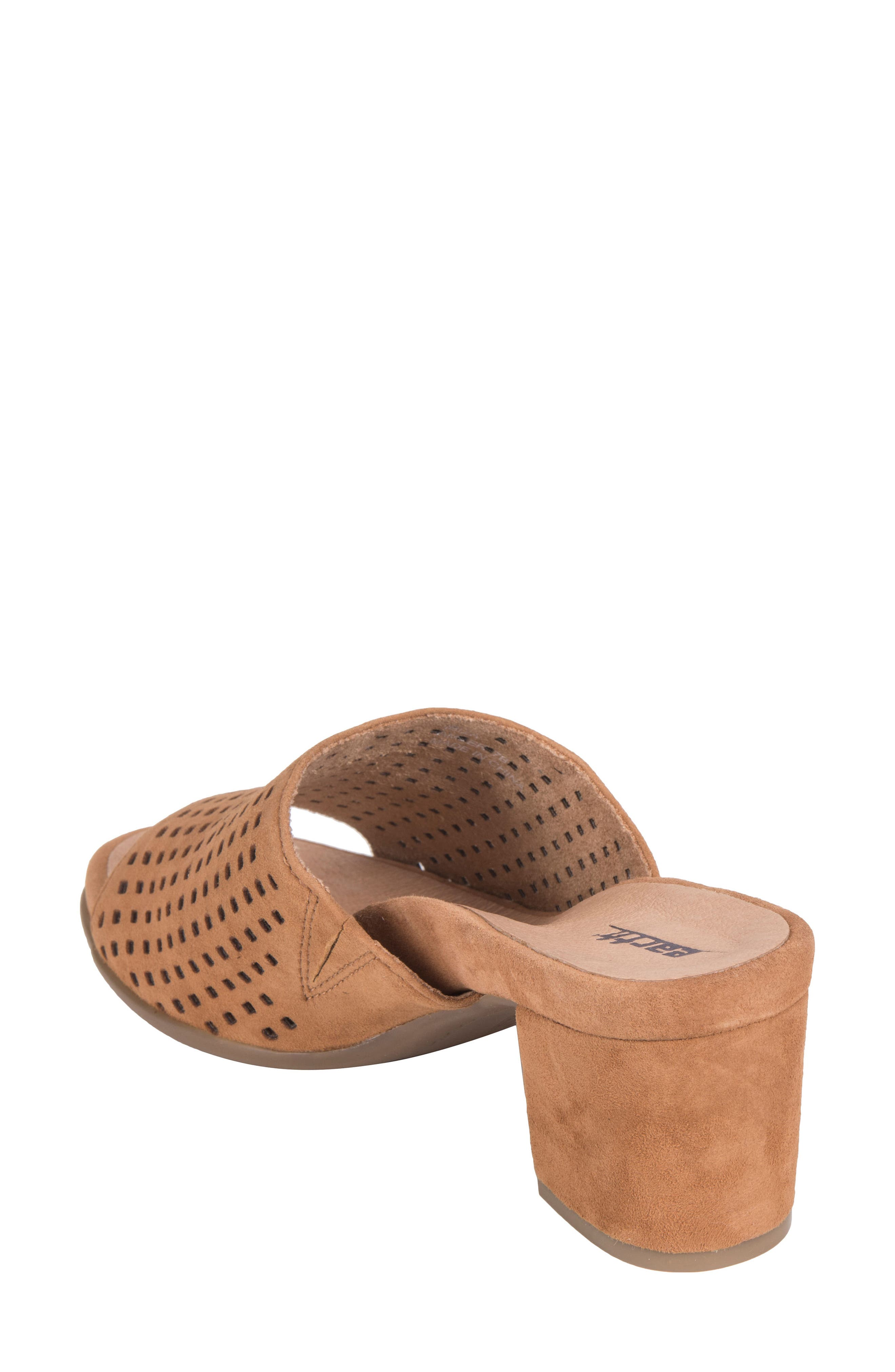 Ibiza Perforated Sandal,                             Alternate thumbnail 2, color,                             Amber Suede