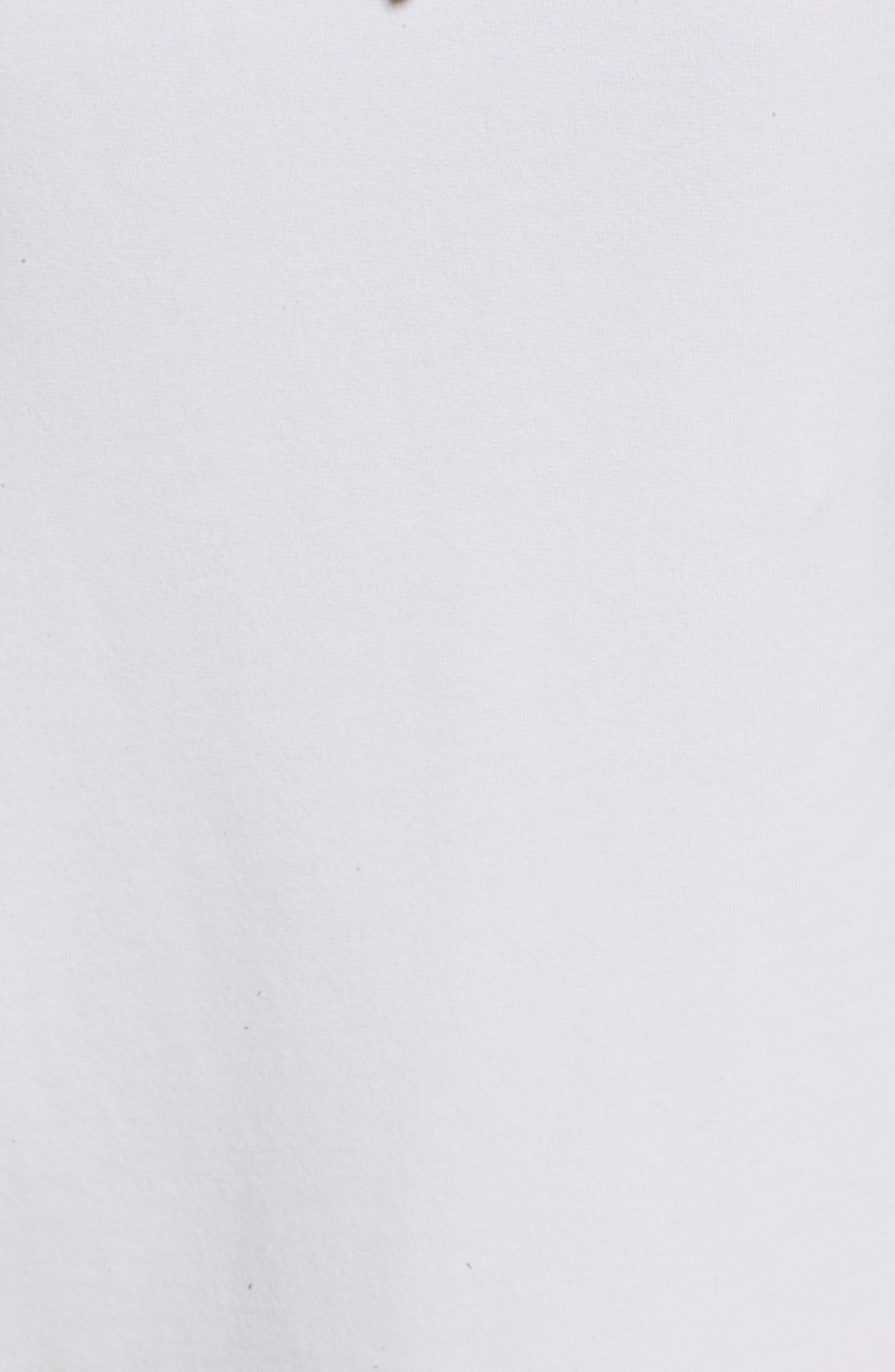 Midi Fleece Skirt,                             Alternate thumbnail 6, color,                             Dirty White