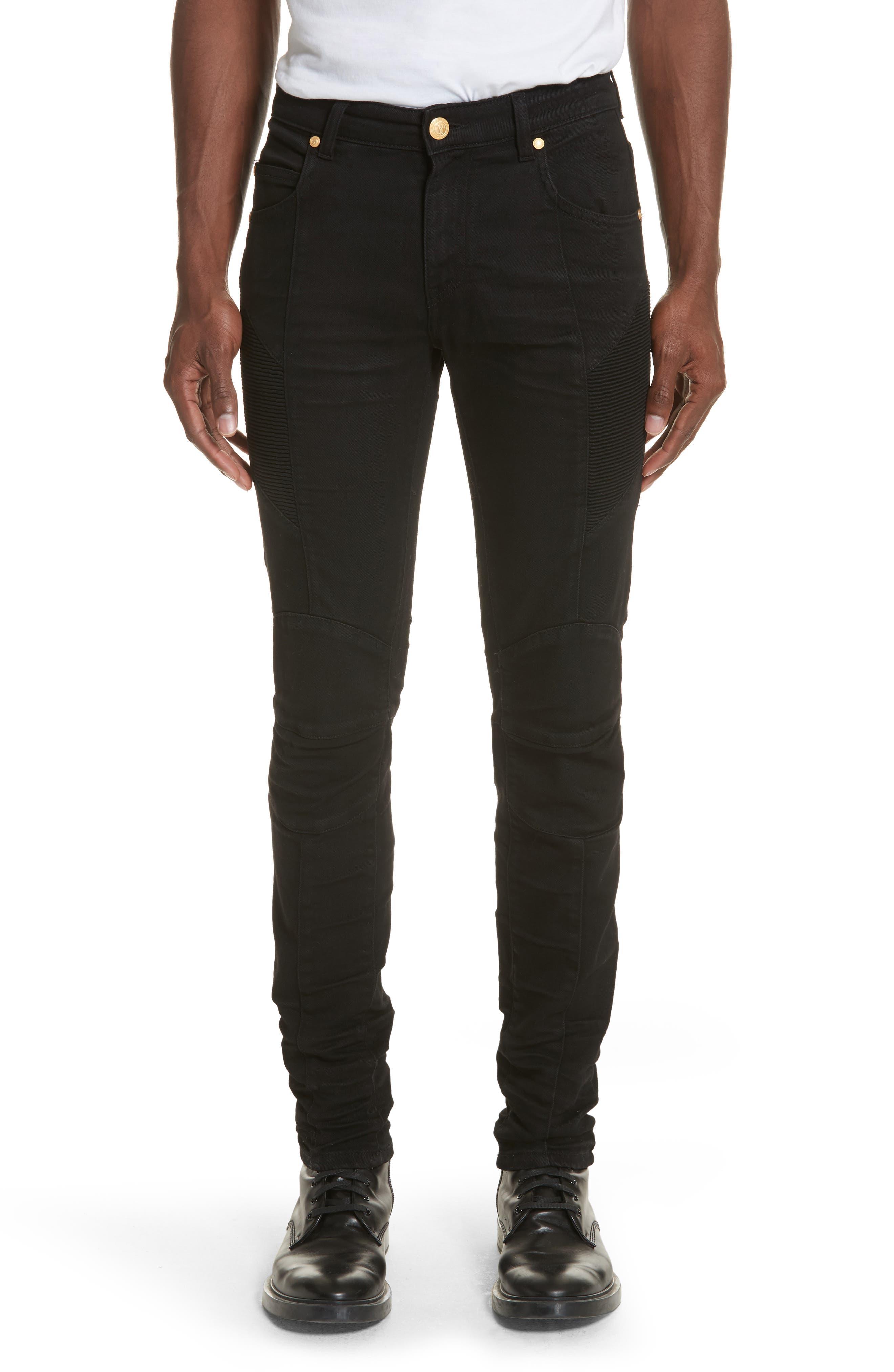 Moto Jeans,                             Main thumbnail 1, color,                             Black Denim