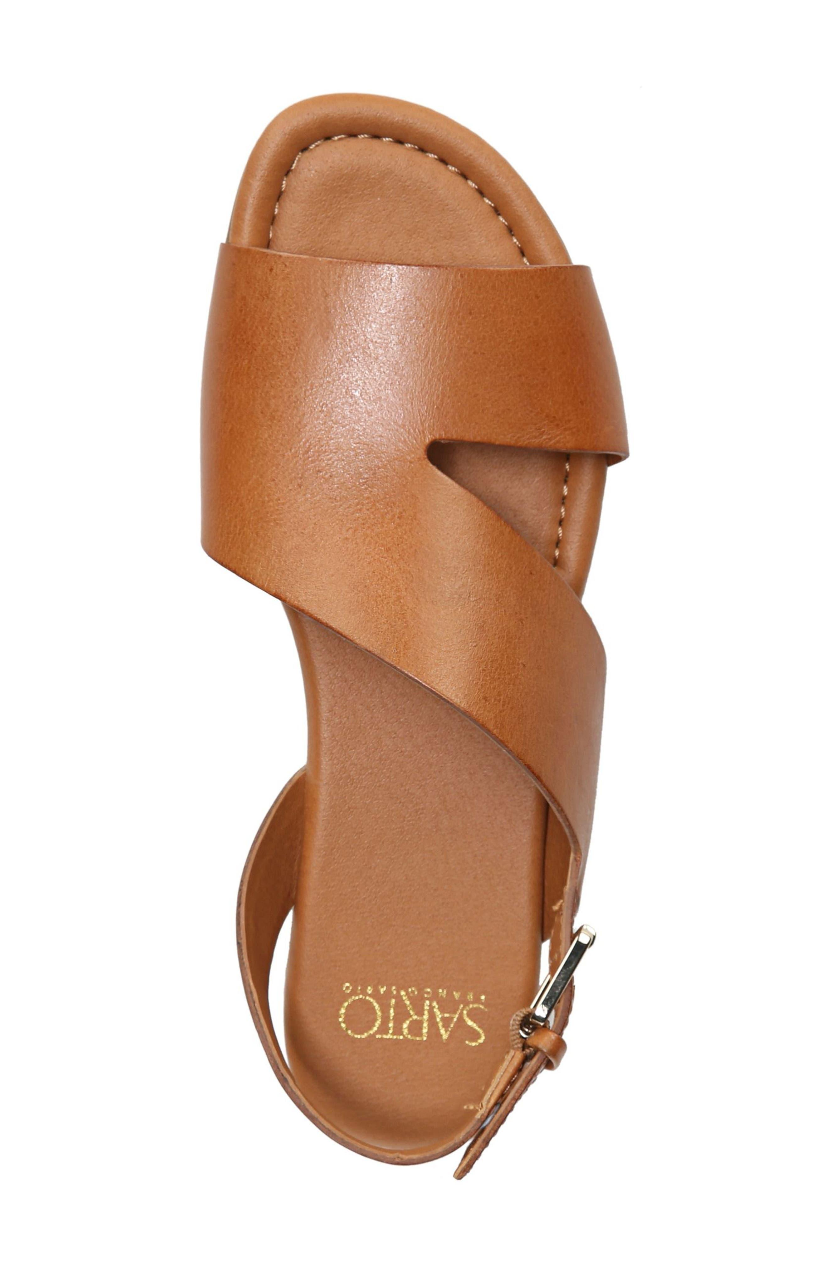 Garza Slingback Sandal,                             Alternate thumbnail 5, color,                             Tan Leather