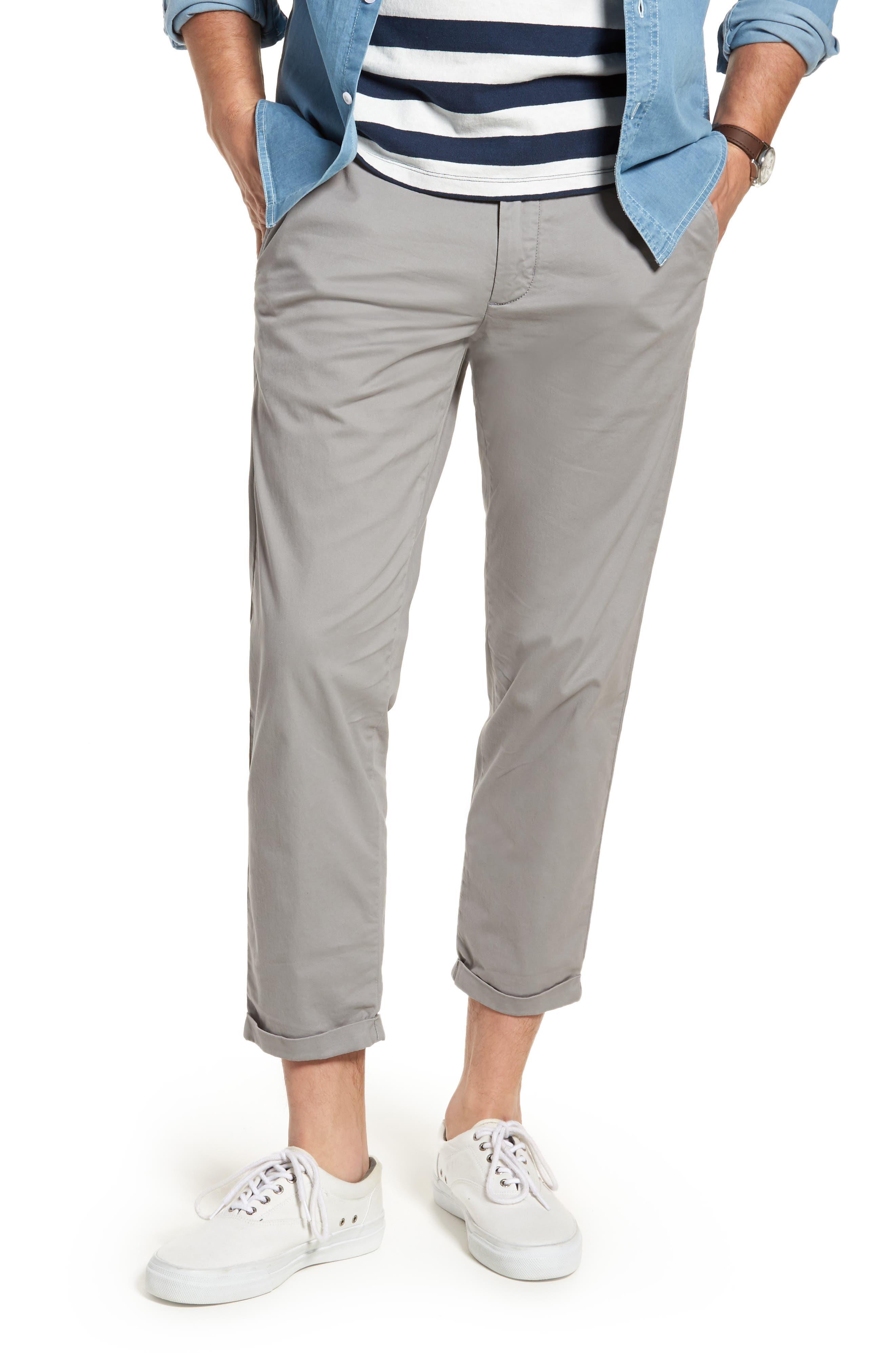 Crop Chino Pants,                         Main,                         color, Grey Filigree