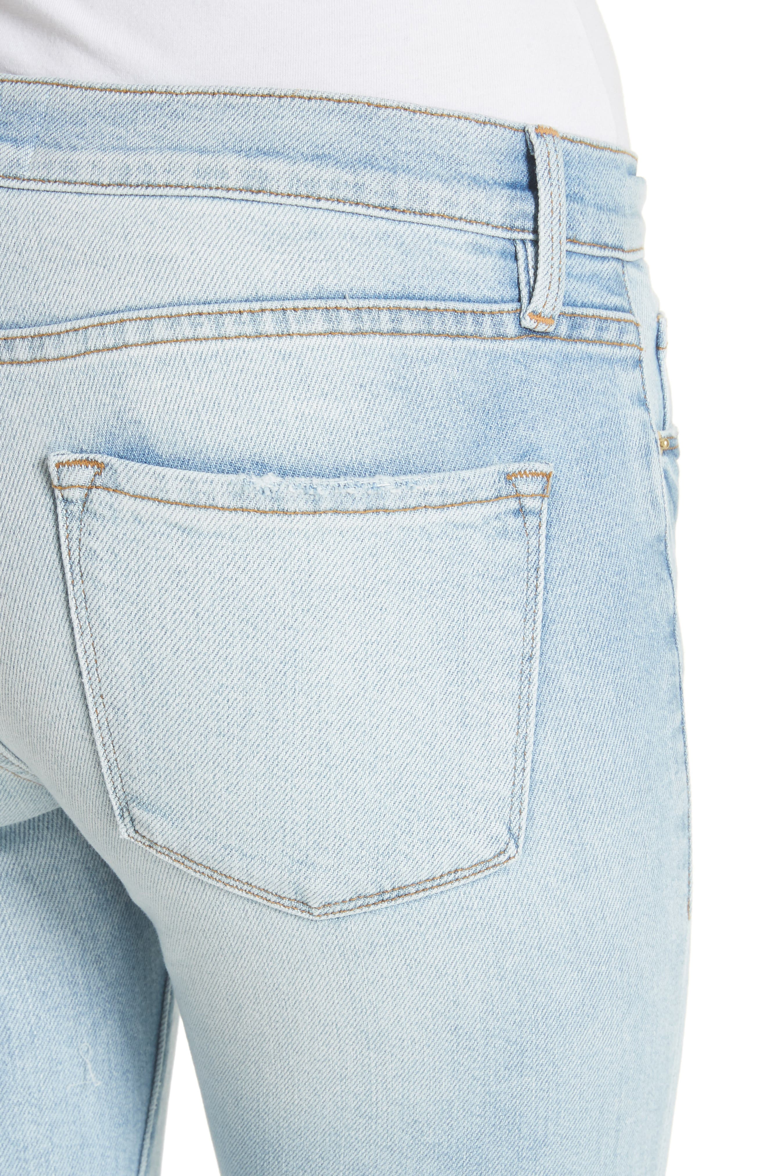 Le Skinny de Jeanne Ankle Jeans,                             Alternate thumbnail 4, color,                             Adeline