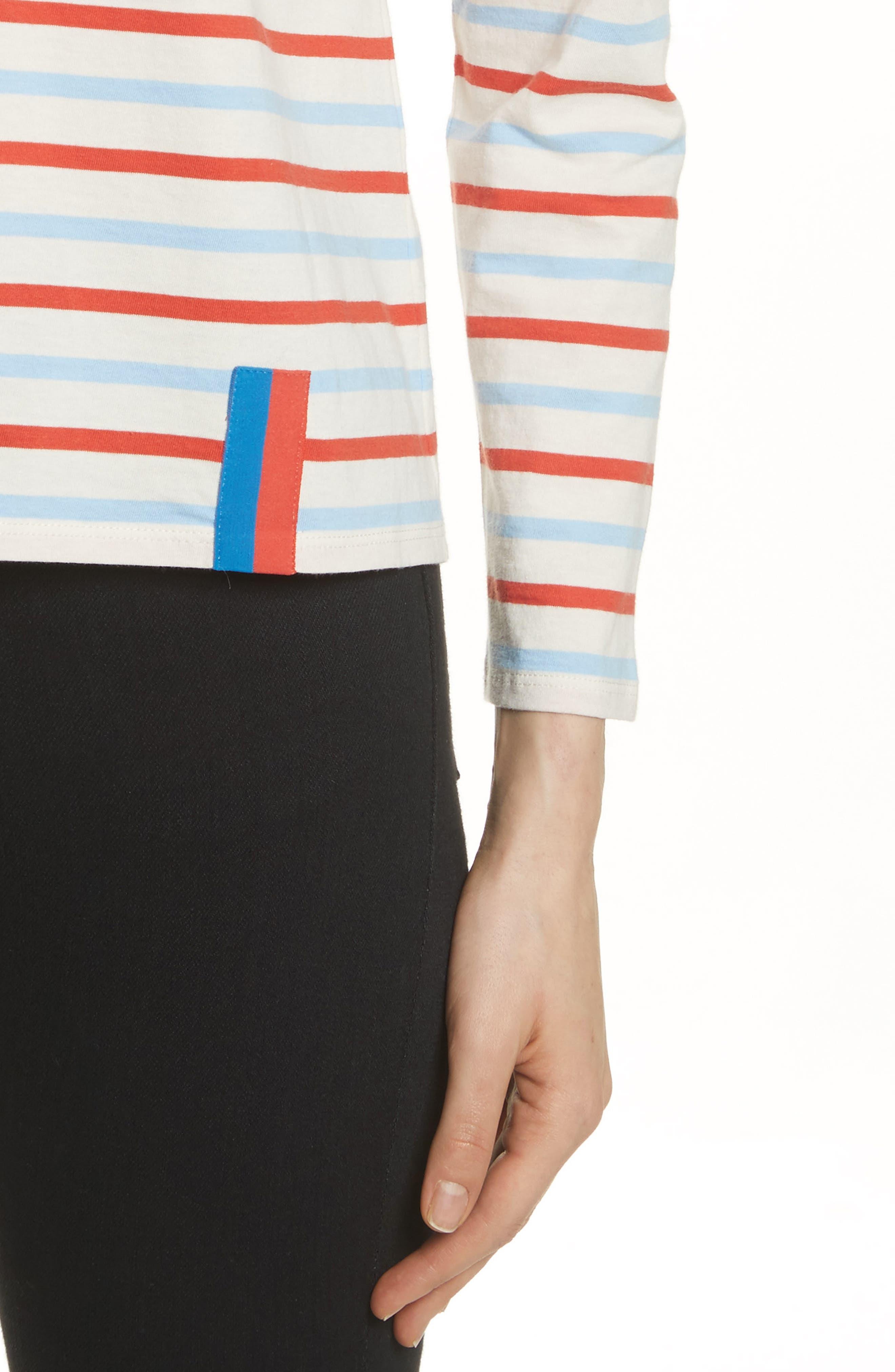 Alternate Image 4  - Kule The Modern Long Stripe Cotton Tee