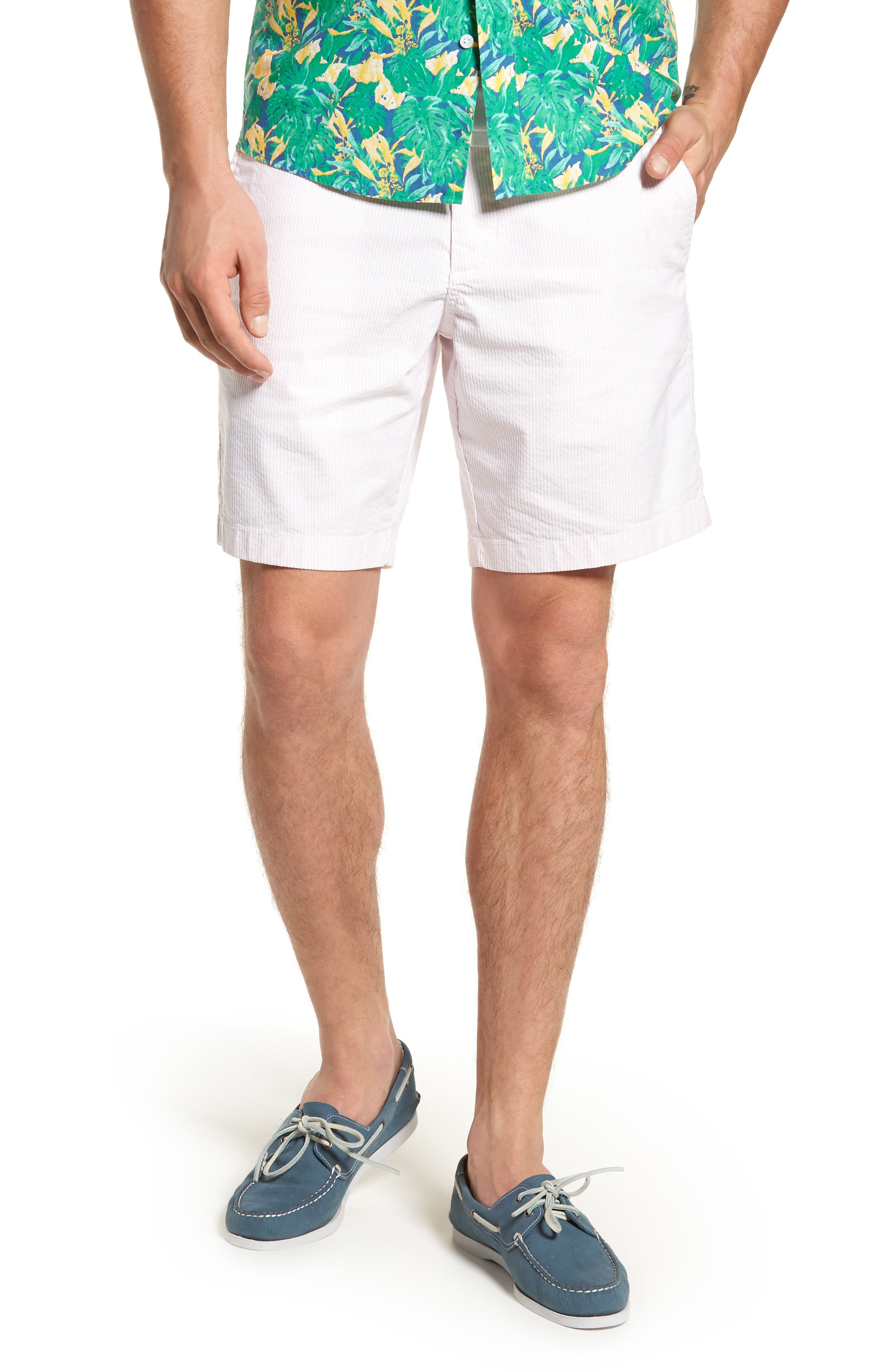 1901 Ballard Slim Fit Seersucker Shorts