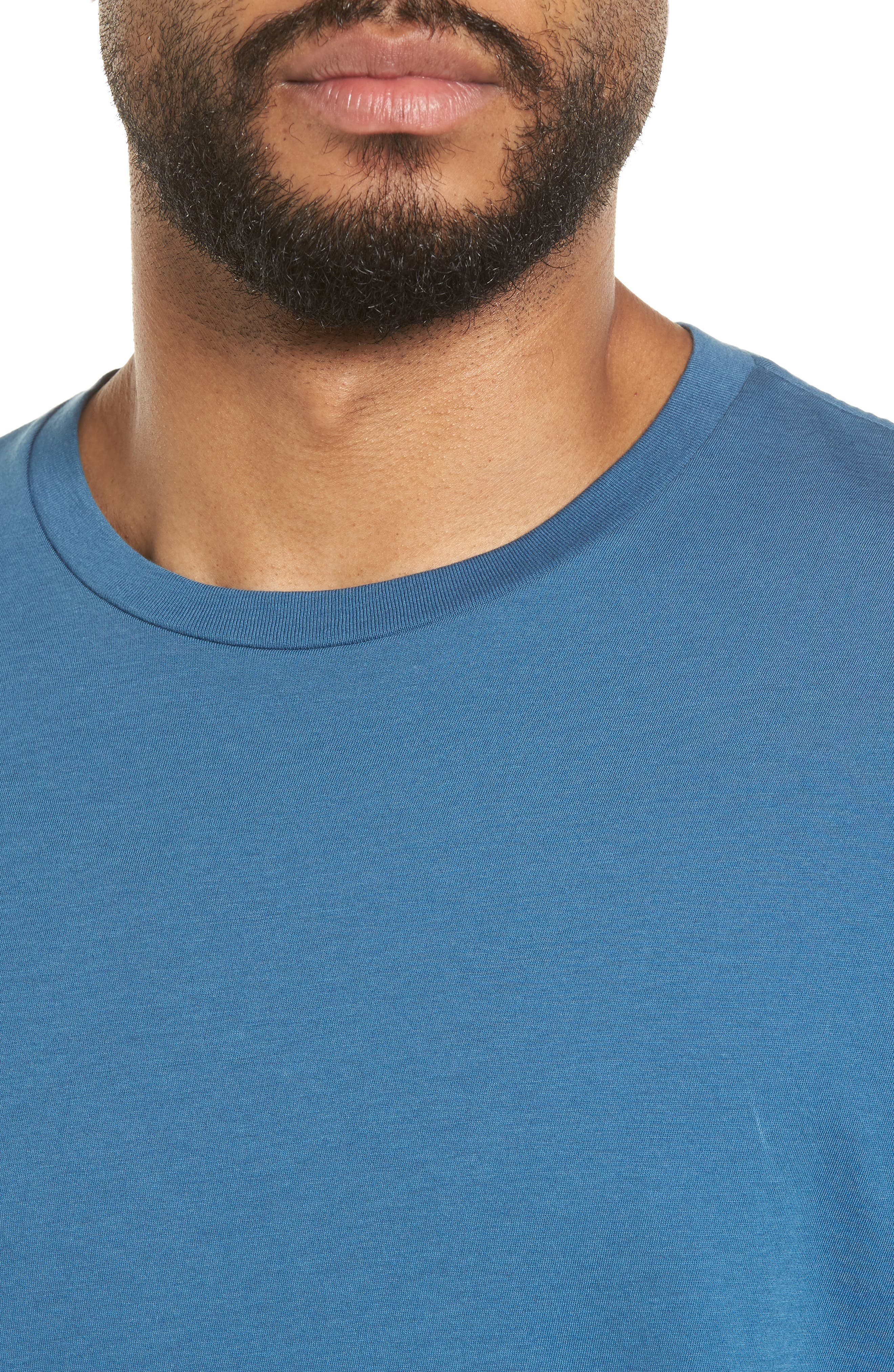 Slim Fit T-Shirt,                             Alternate thumbnail 4, color,                             Santorini
