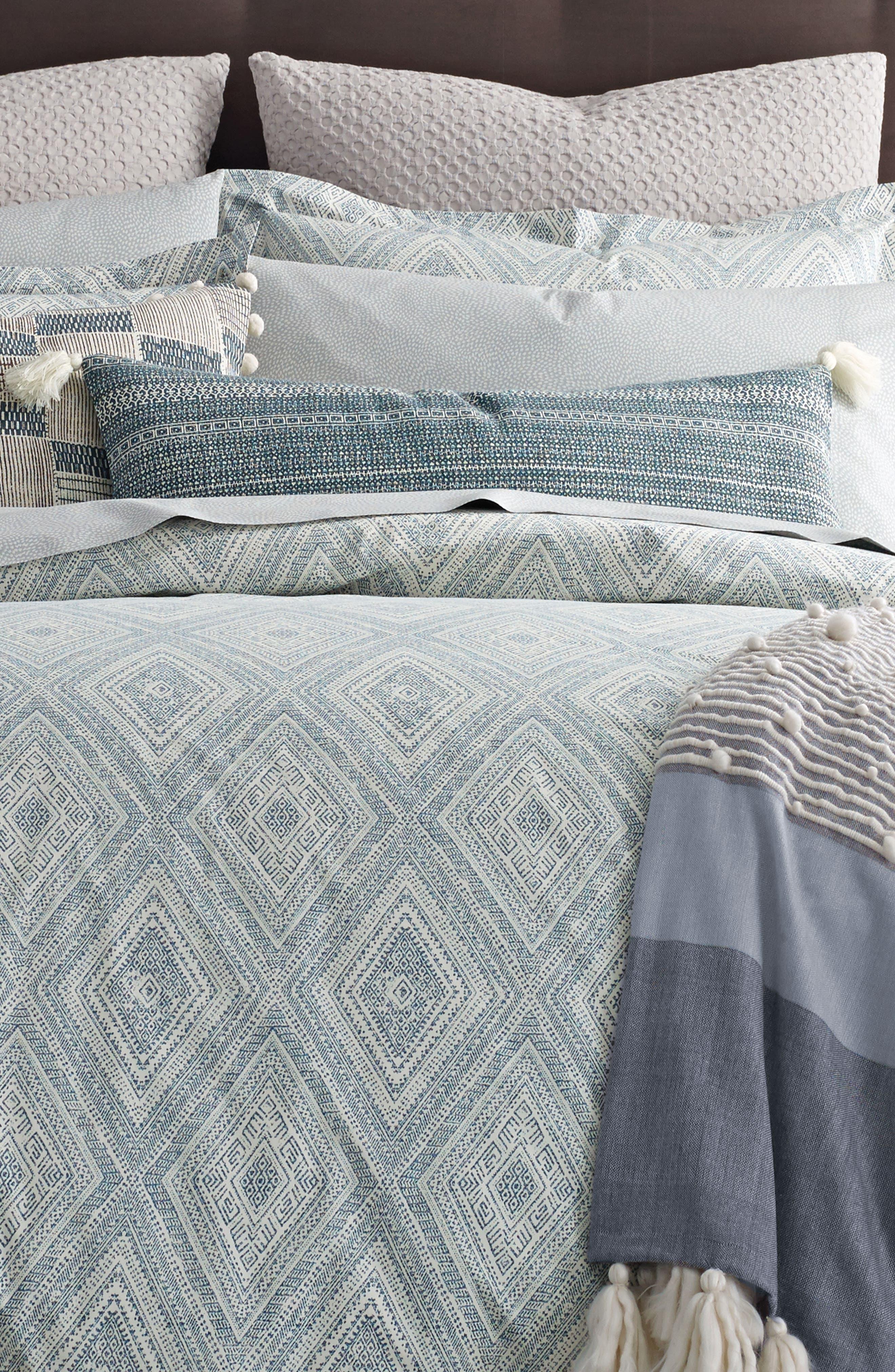 Caspiane 200 Thread Count Comforter,                             Alternate thumbnail 2, color,                             Turquoise/ Aqua
