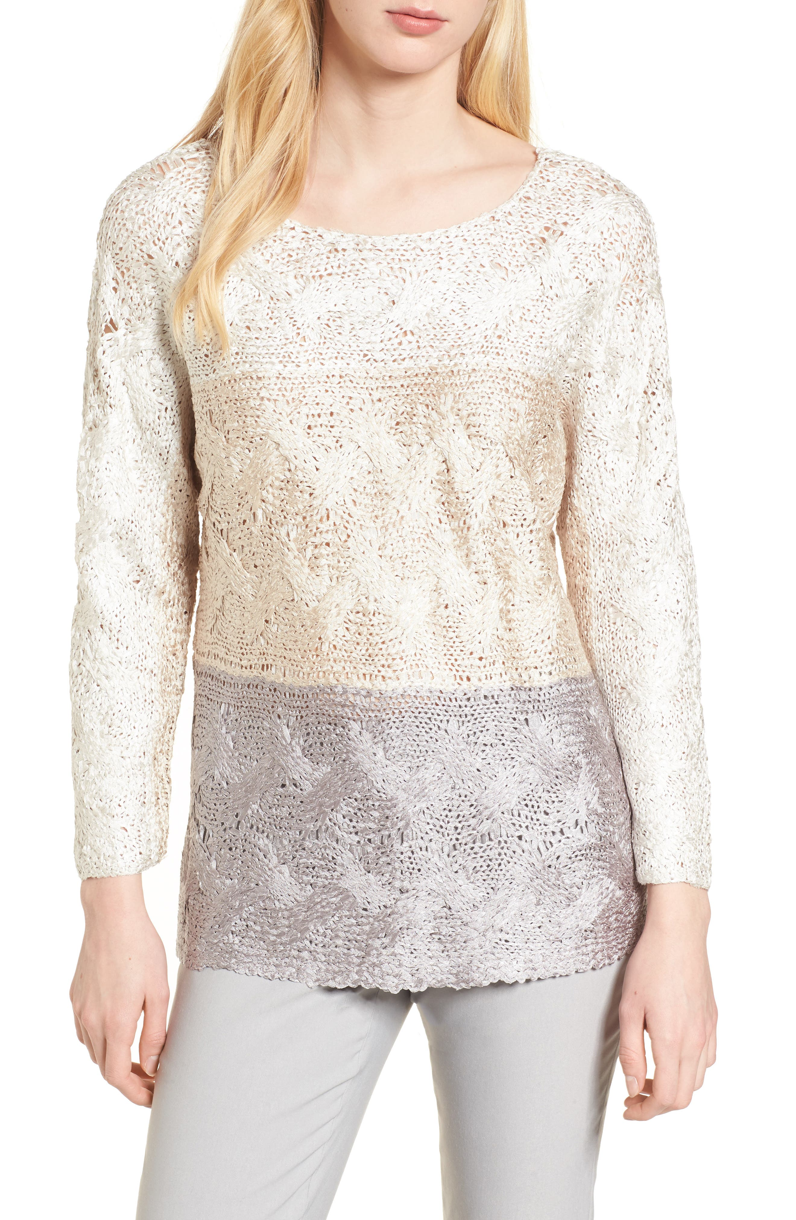 Alternate Image 1 Selected - NIC+ZOE Daydreamer Ombré Sweater
