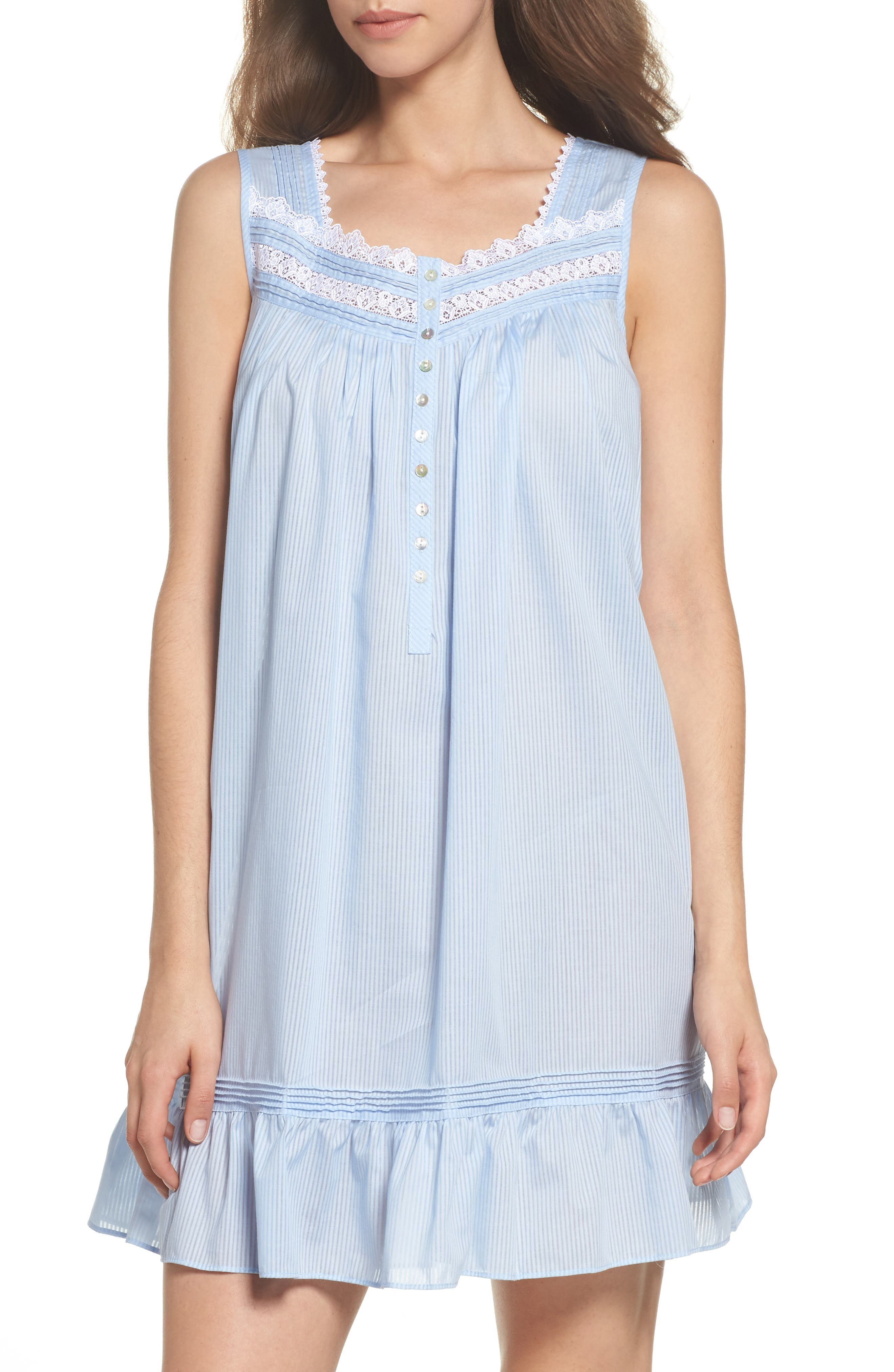 Alternate Image 1 Selected - Eileen West Cotton Blend Chemise
