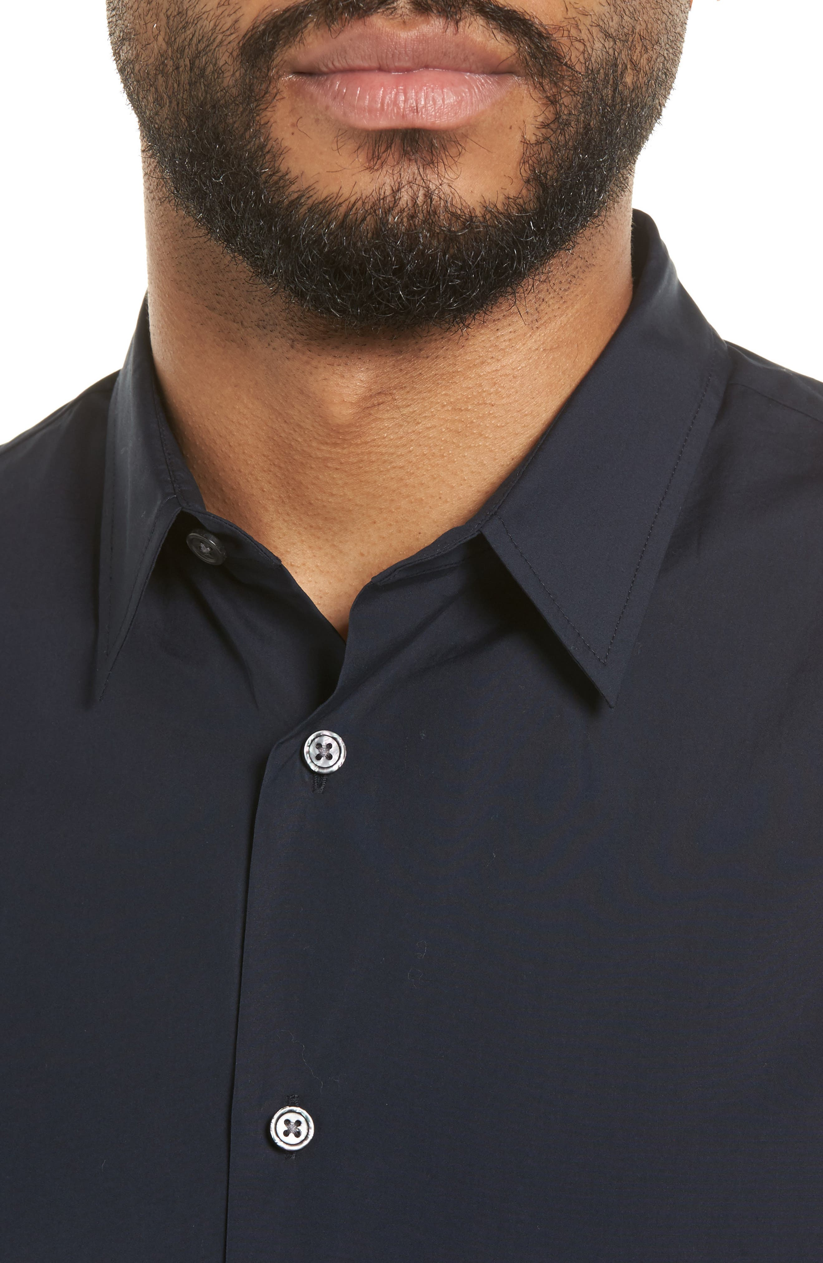 Poplin Slim Fit Sport Shirt,                             Alternate thumbnail 4, color,                             New Coastal