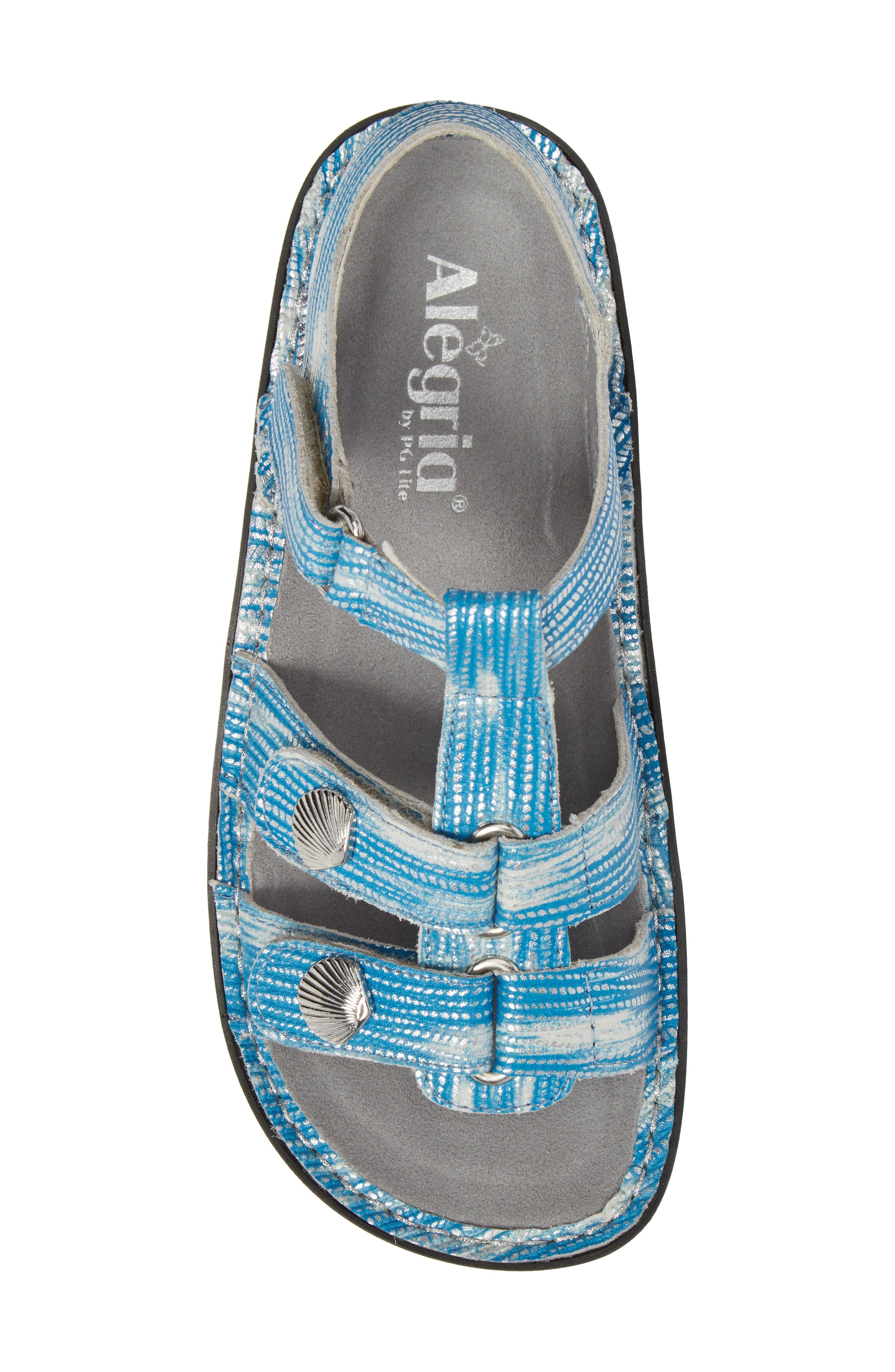 'Kleo' Sandal,                             Alternate thumbnail 5, color,                             Wrapture Blues Leather