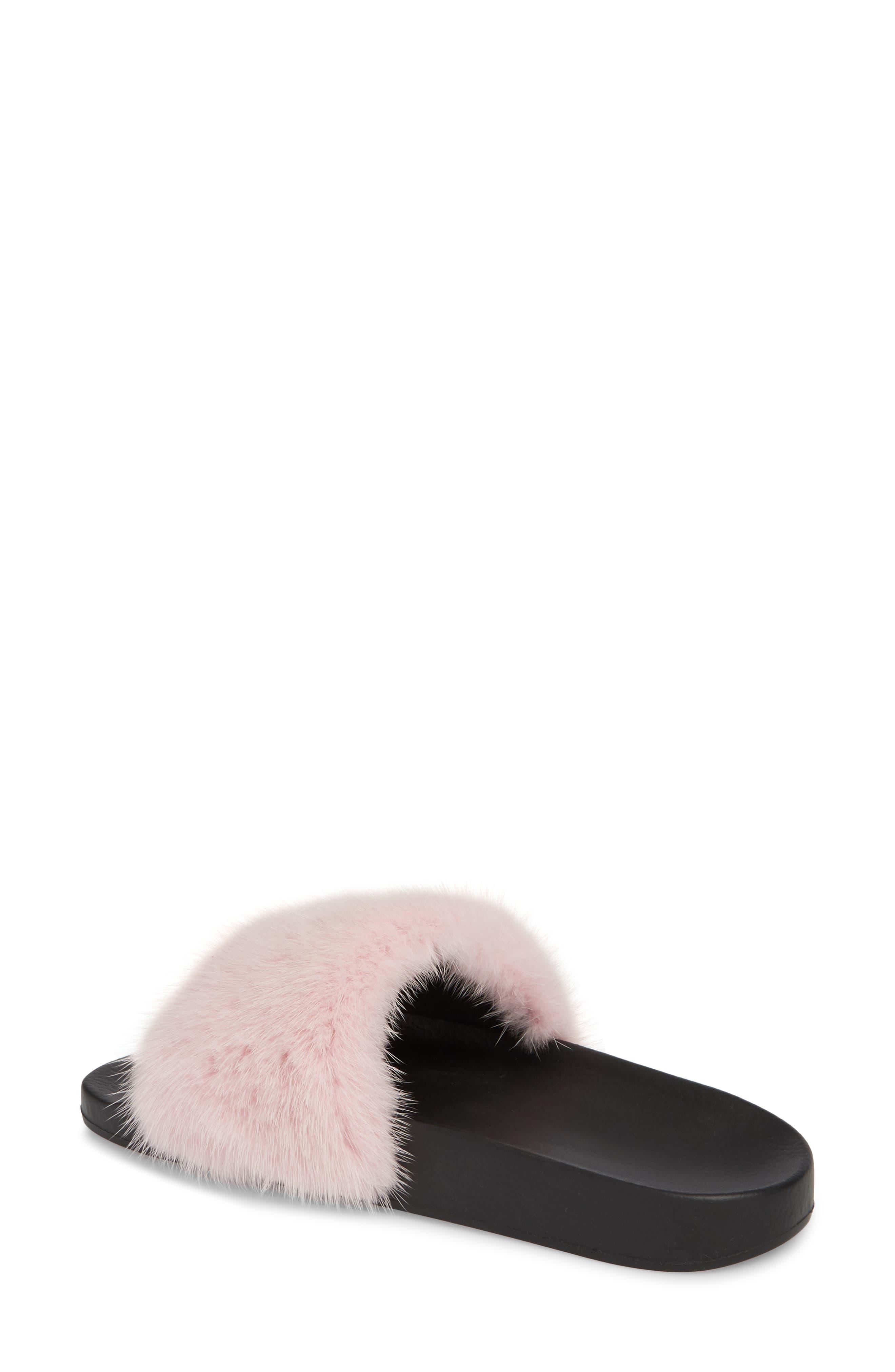 Alternate Image 2  - Givenchy Genuine Mink Fur Slide Sandal (Women)