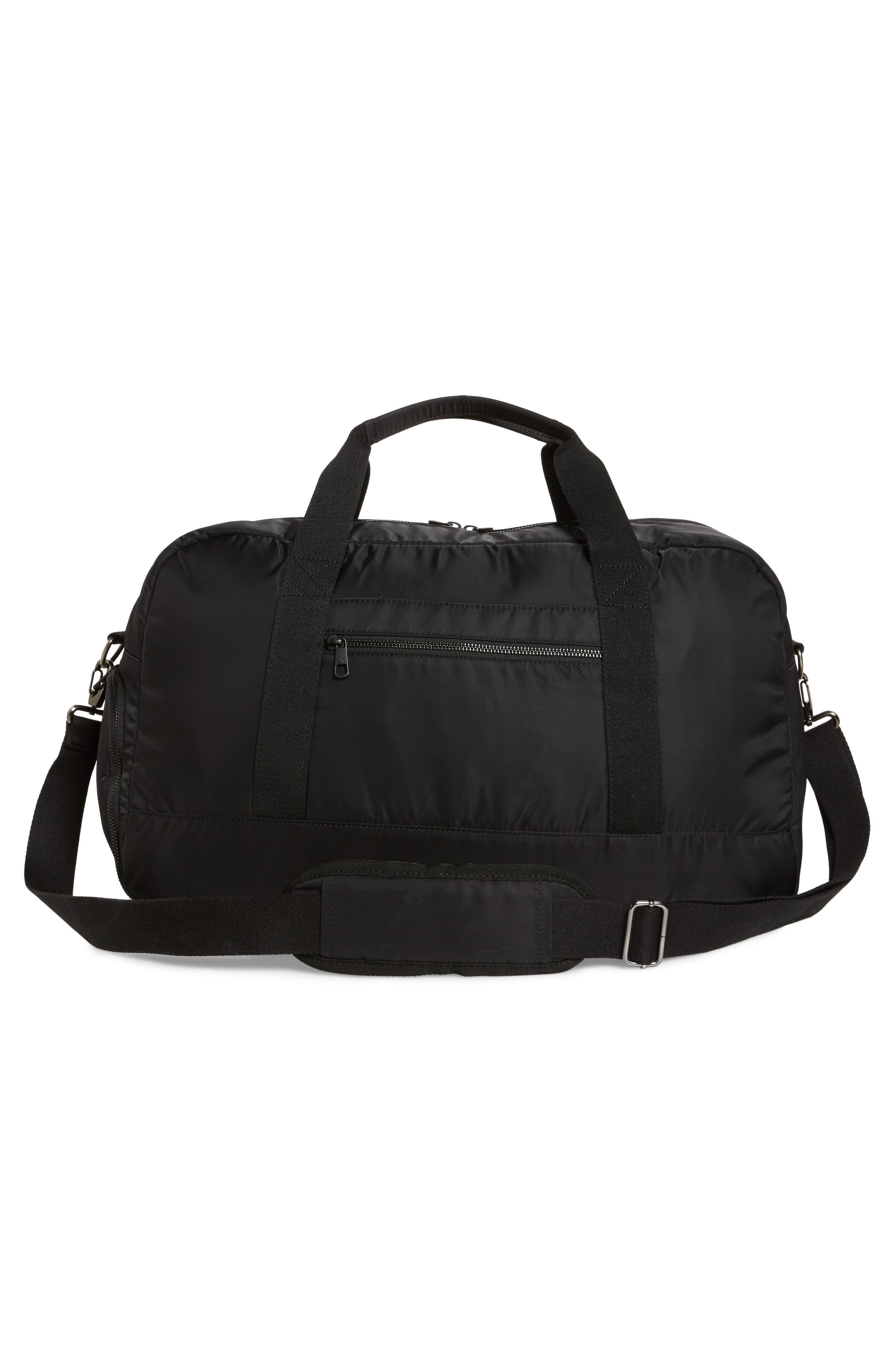 The Heights - Franklin Nylon Duffel Bag,                             Alternate thumbnail 3, color,                             Black