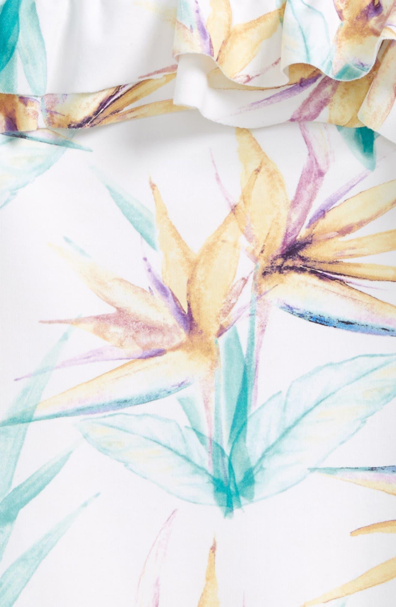 Paradise Ruffle One-Piece Swimsuit,                             Alternate thumbnail 2, color,                             White