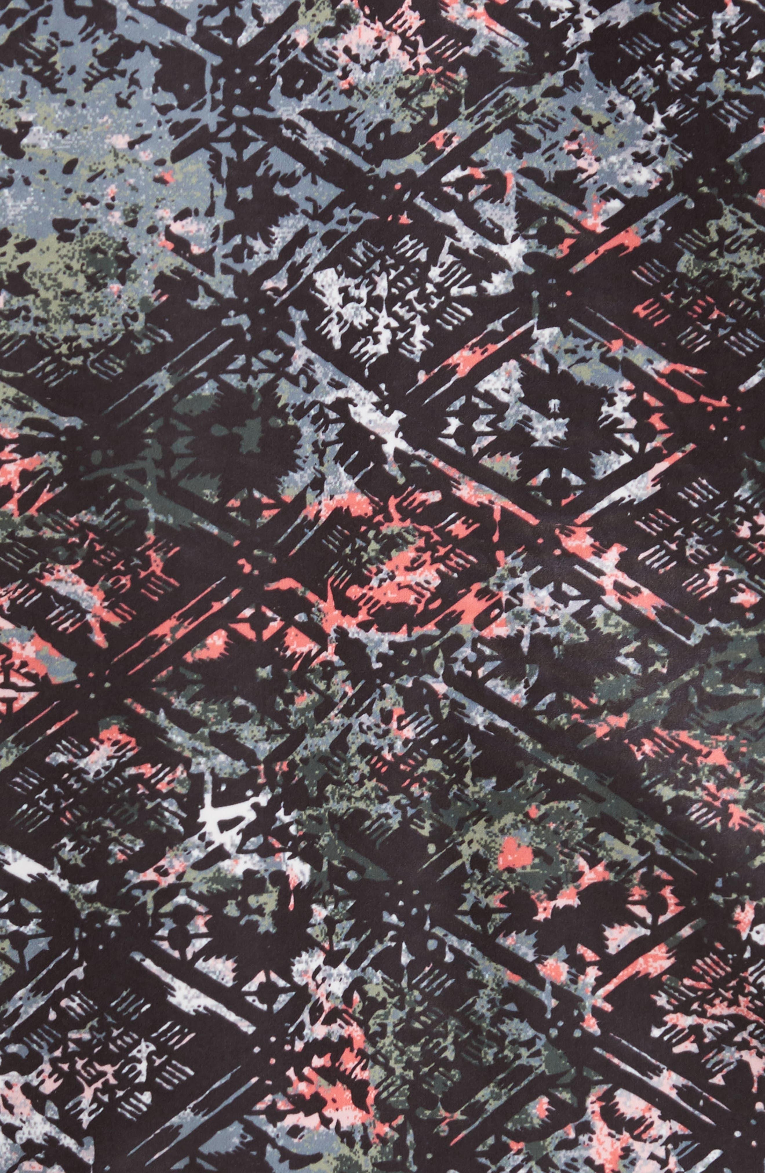 Geo Print Anorak,                             Alternate thumbnail 5, color,                             Green Print