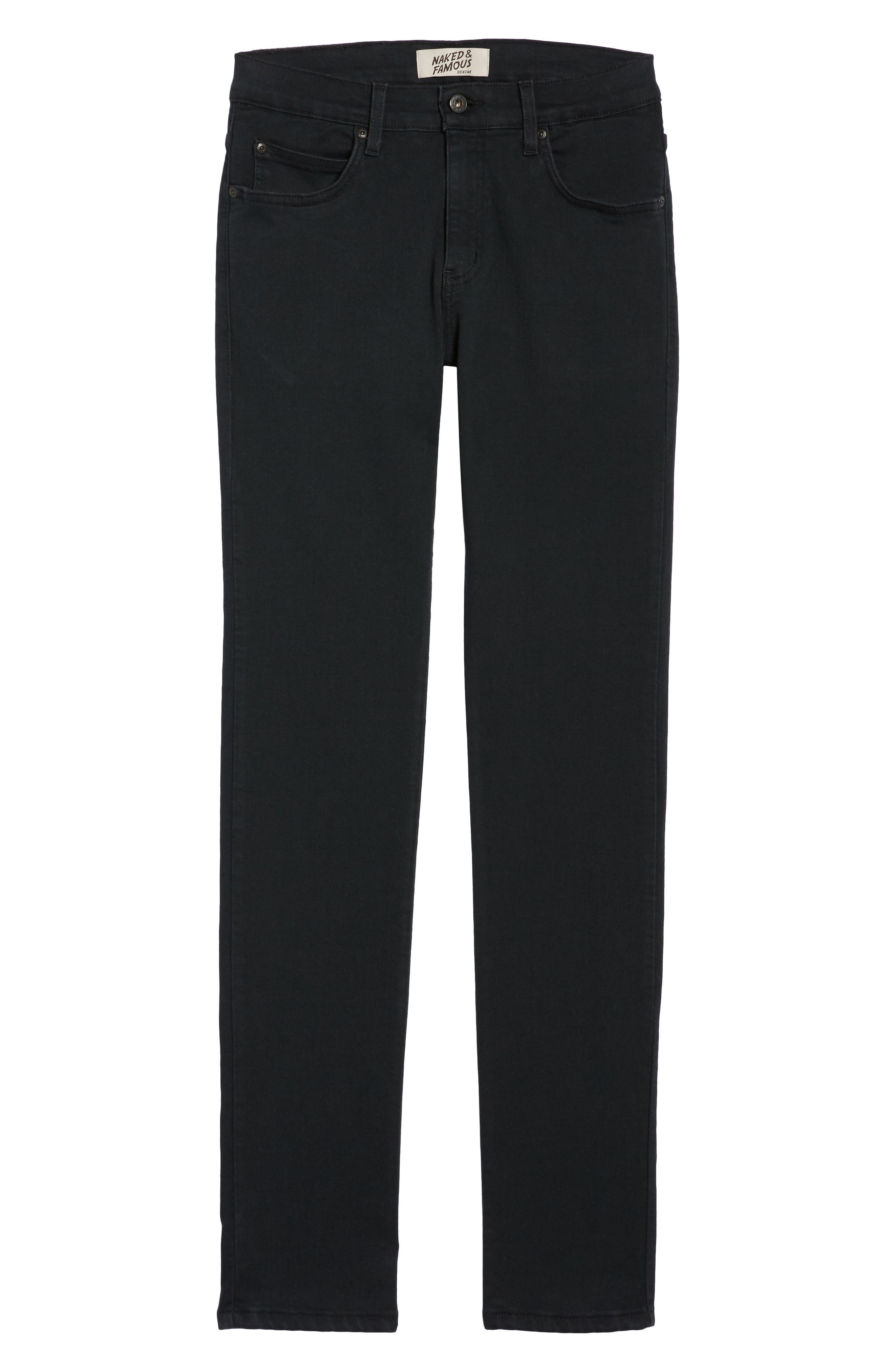 Super Skinny Guy Skinny Fit Jeans,                             Alternate thumbnail 6, color,                             Black