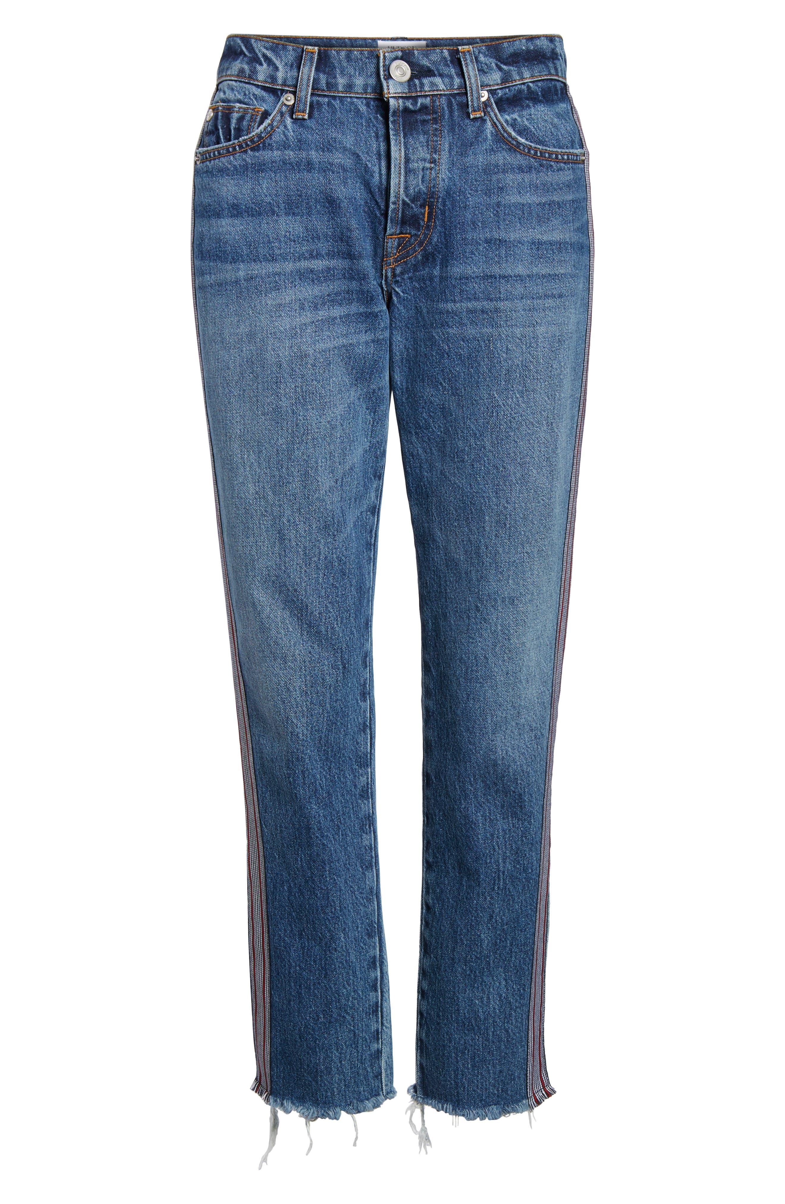 Riley Crop Straight Leg Jeans,                             Alternate thumbnail 7, color,                             Forgiver