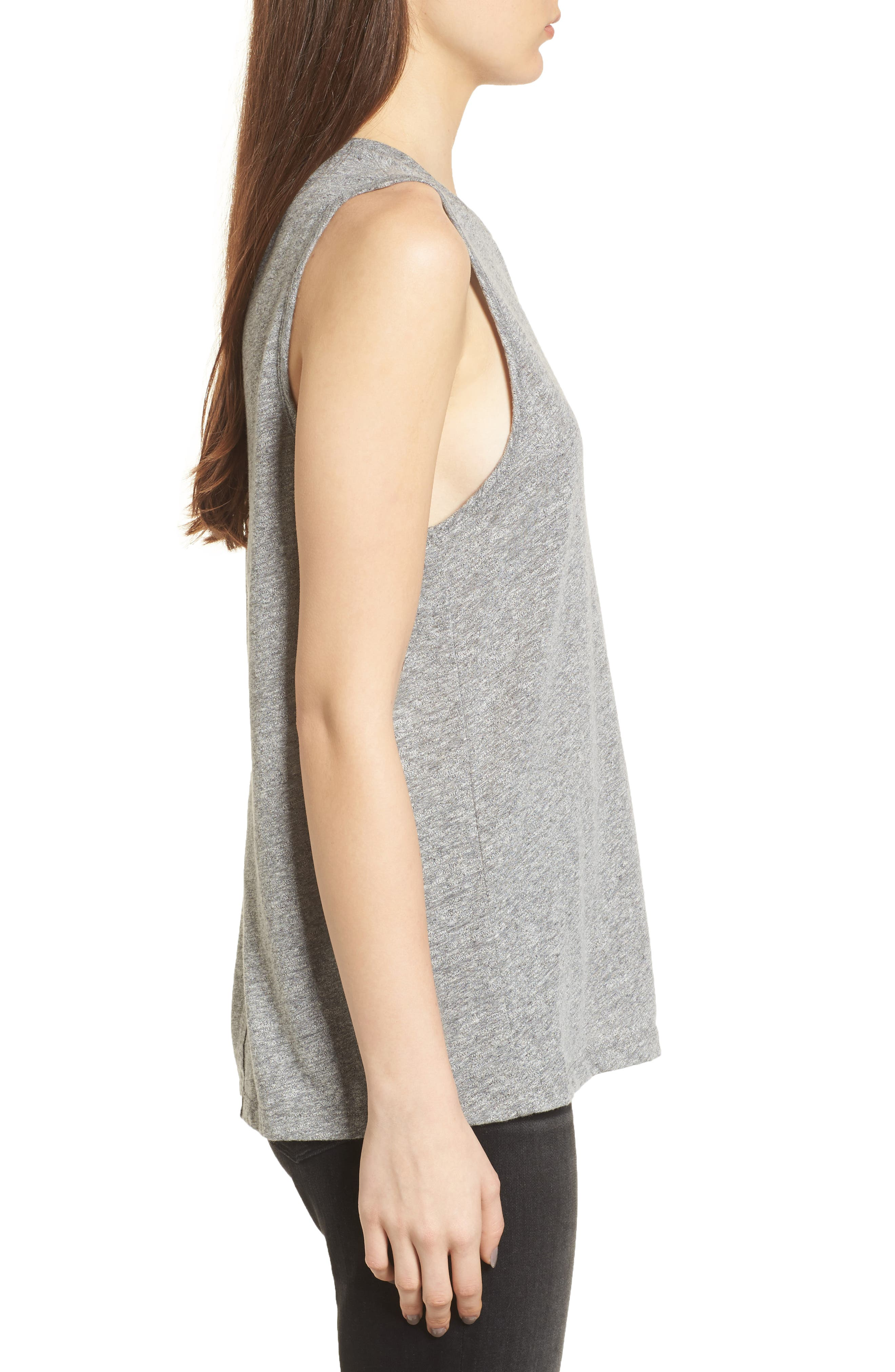 Serena Tank,                             Alternate thumbnail 3, color,                             Speckled Heather Gray