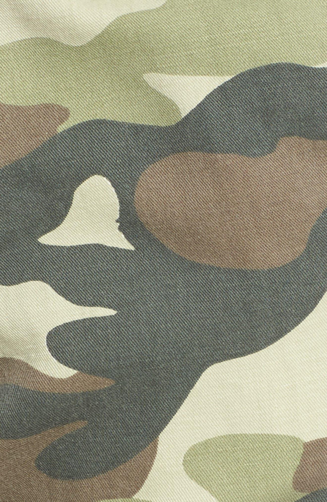 The Misfit Crop Pants,                             Alternate thumbnail 6, color,                             Camouflage