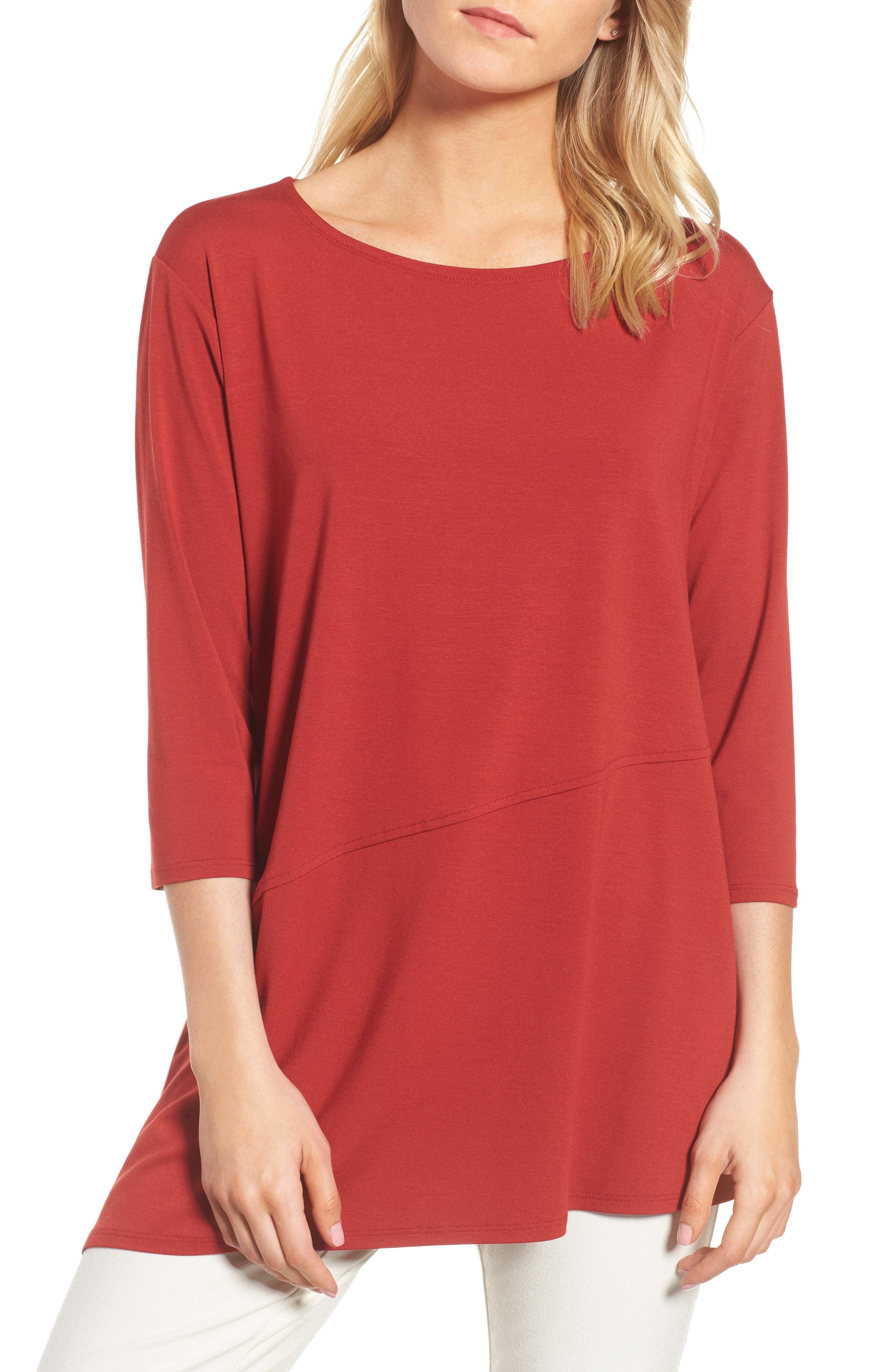 Eileen Fisher Asymmetrical Jersey Top
