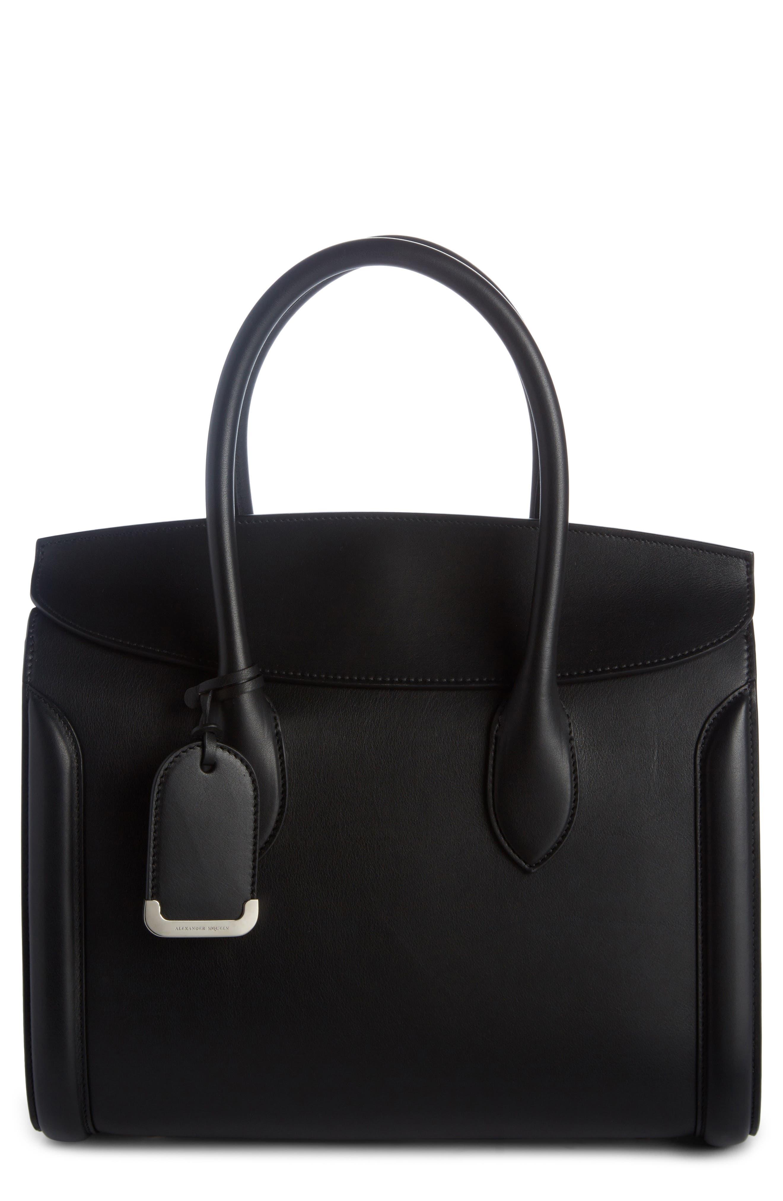 Heroine 30 Sweet Calfskin Leather Shopper,                         Main,                         color, Black