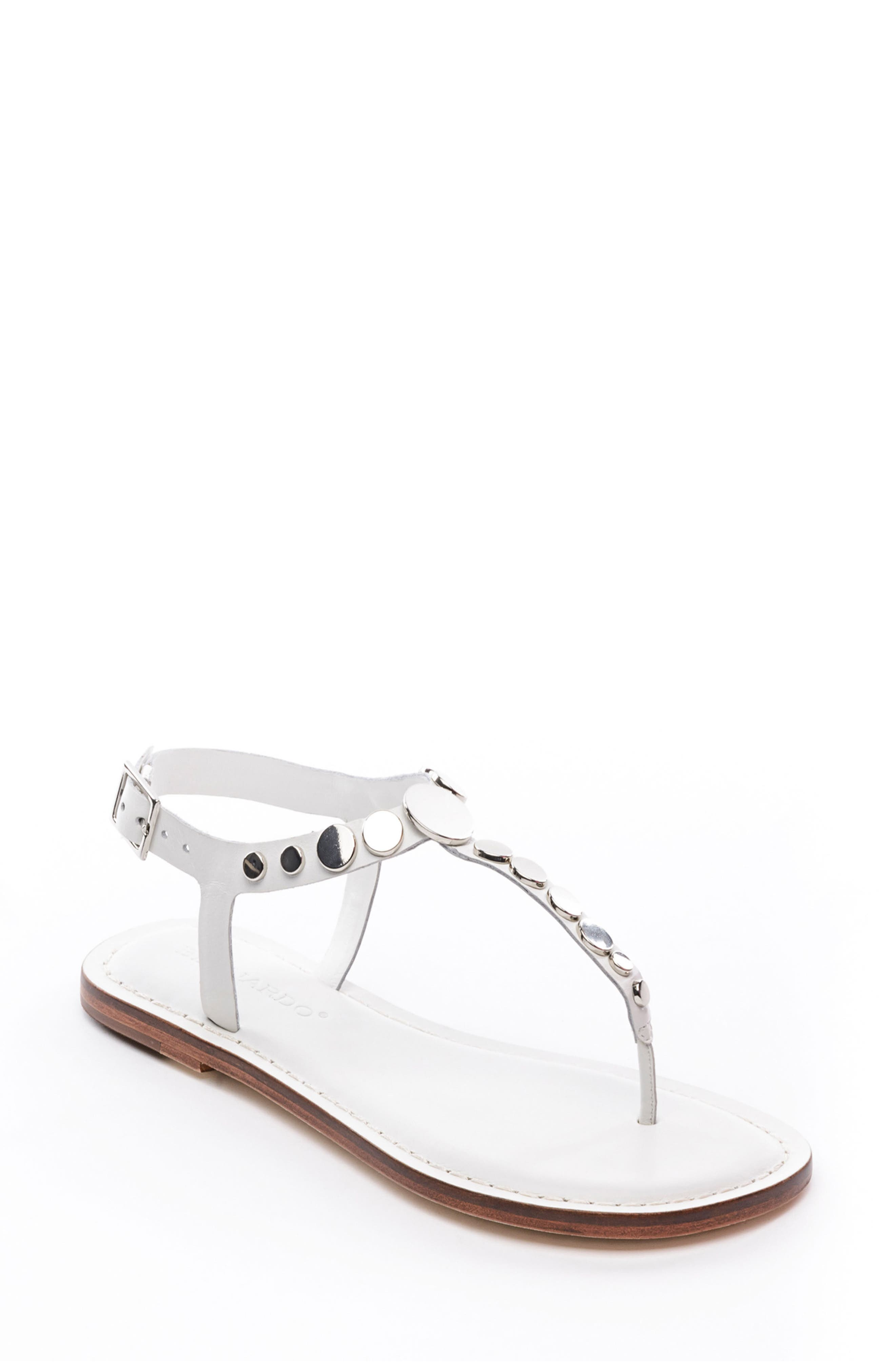 May Sandal,                         Main,                         color, White Leather