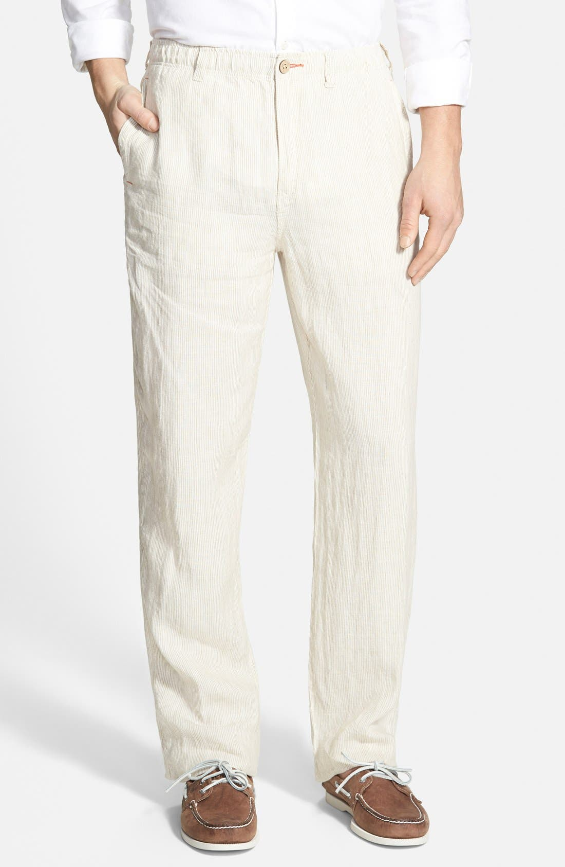 Alternate Image 1 Selected - Tommy Bahama 'Line of the Times' Linen Pants