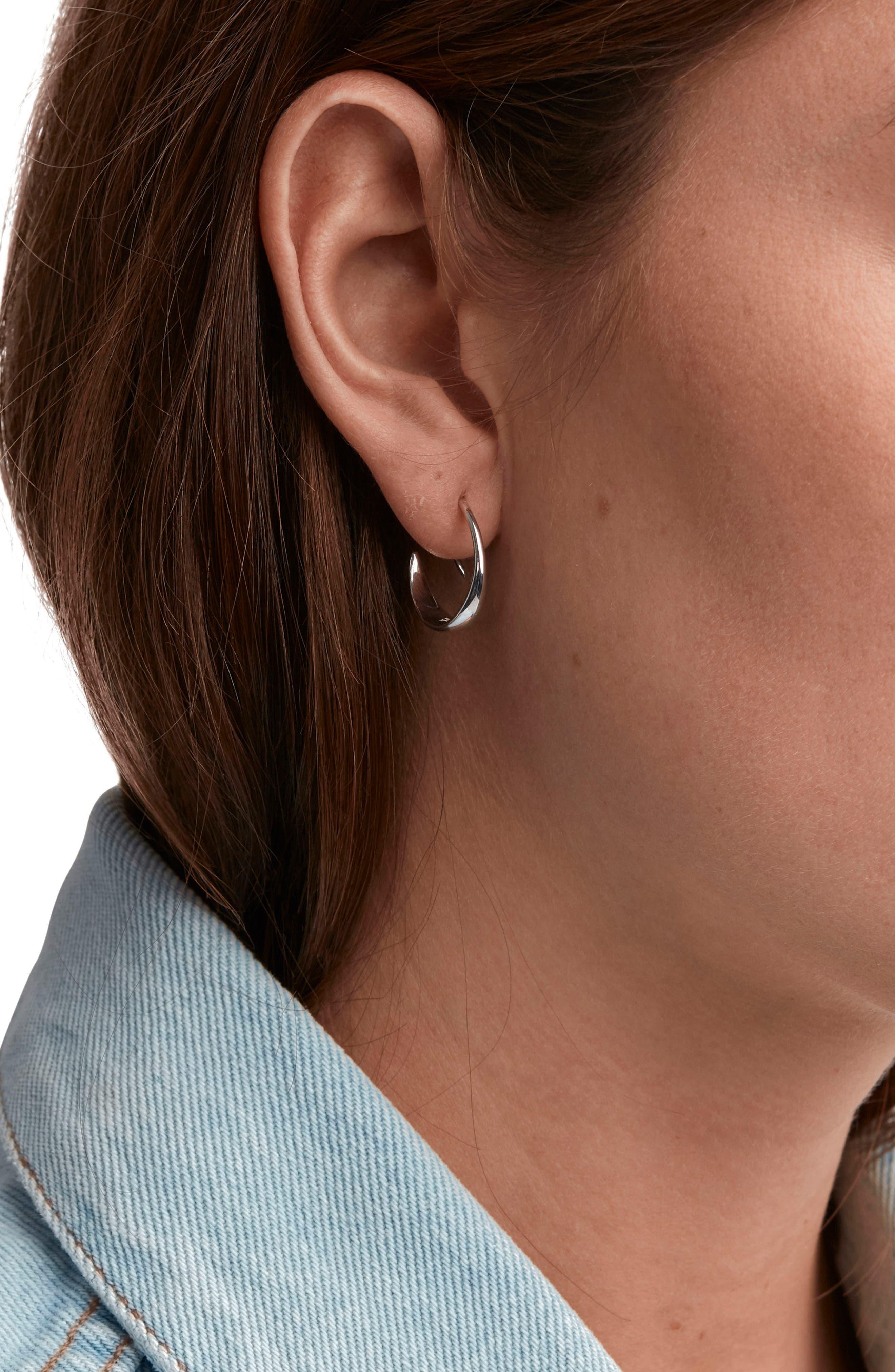 Ear Loop Earrings,                             Alternate thumbnail 2, color,                             925 Silver