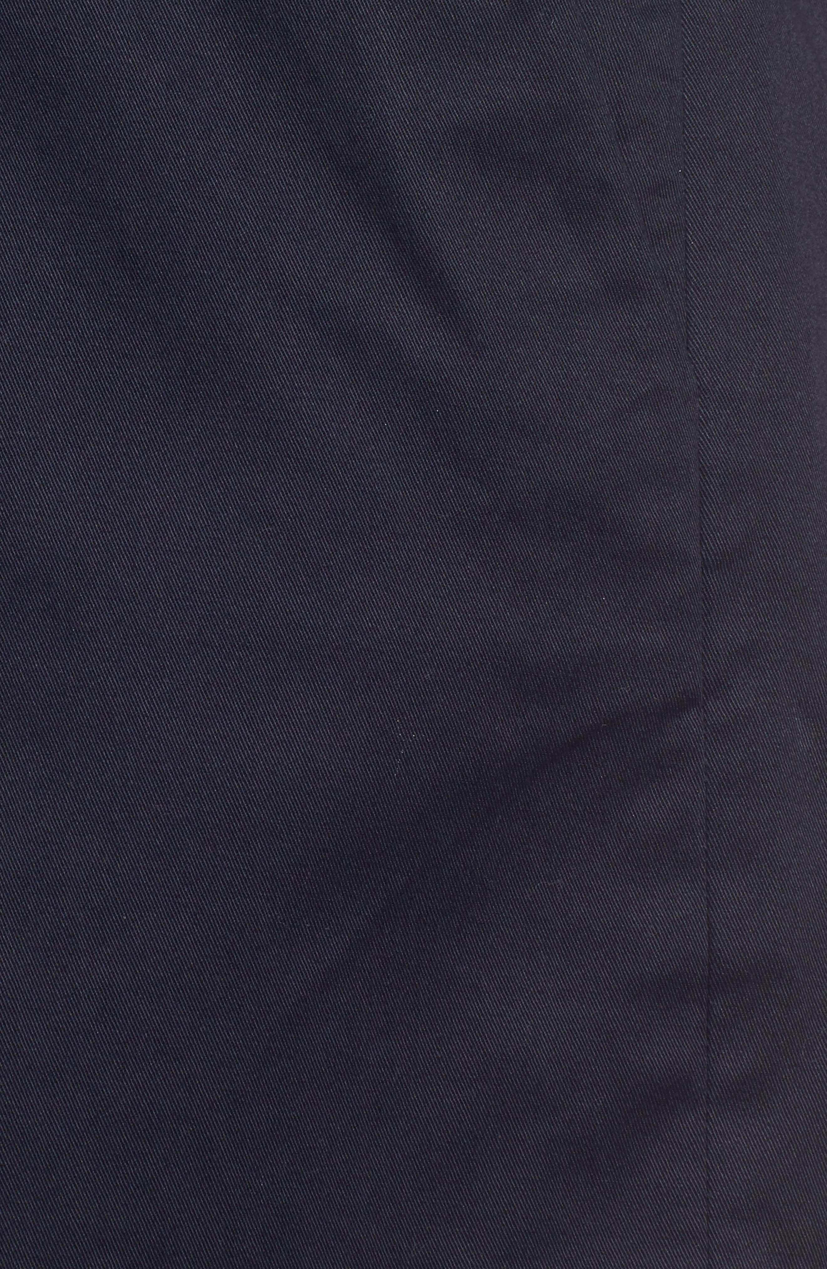 Pleated Twill Bow Front Shorts,                             Alternate thumbnail 5, color,                             Navy Night