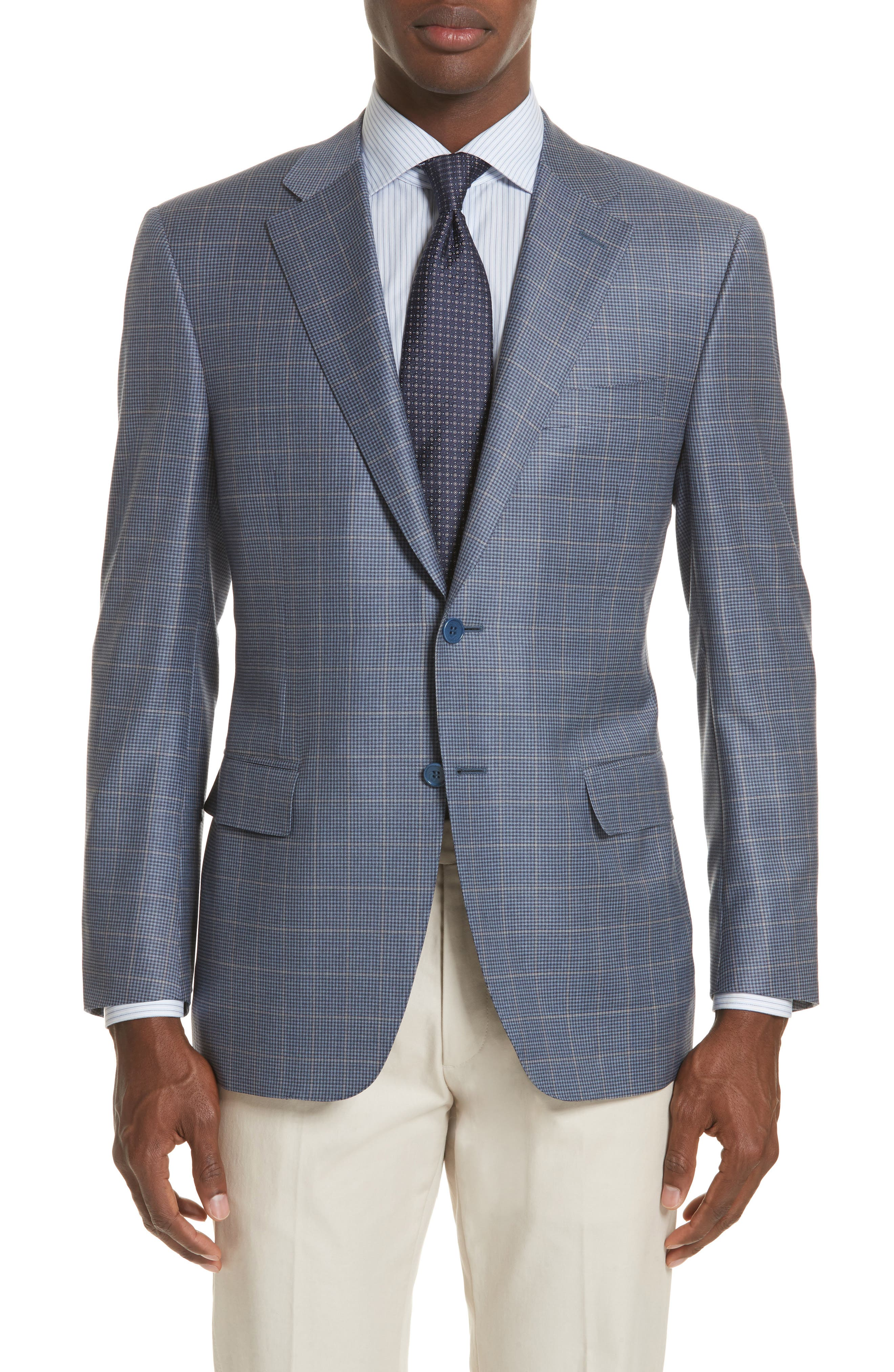 Alternate Image 1 Selected - Canali Classic Fit Windowpane Wool Sport Coat