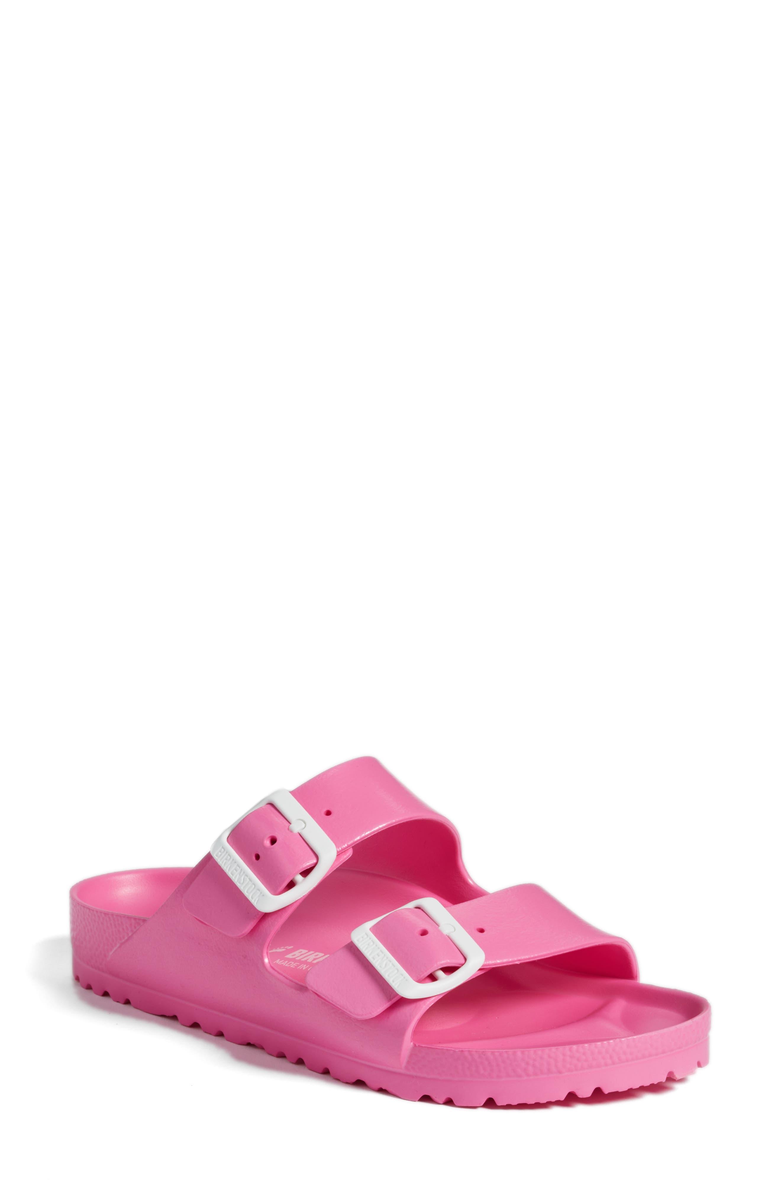 Essentials - Arizona Slide Sandal,                             Main thumbnail 1, color,                             Pink Eva