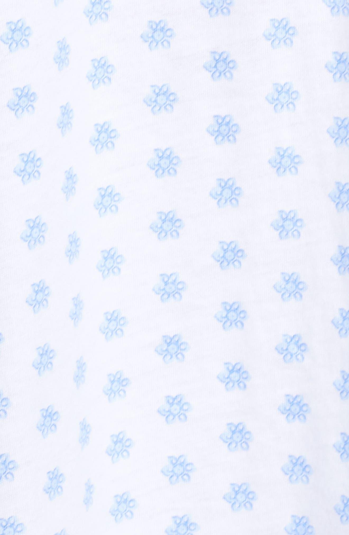 Jersey Sleep Shirt,                             Alternate thumbnail 6, color,                             White Blue Geo