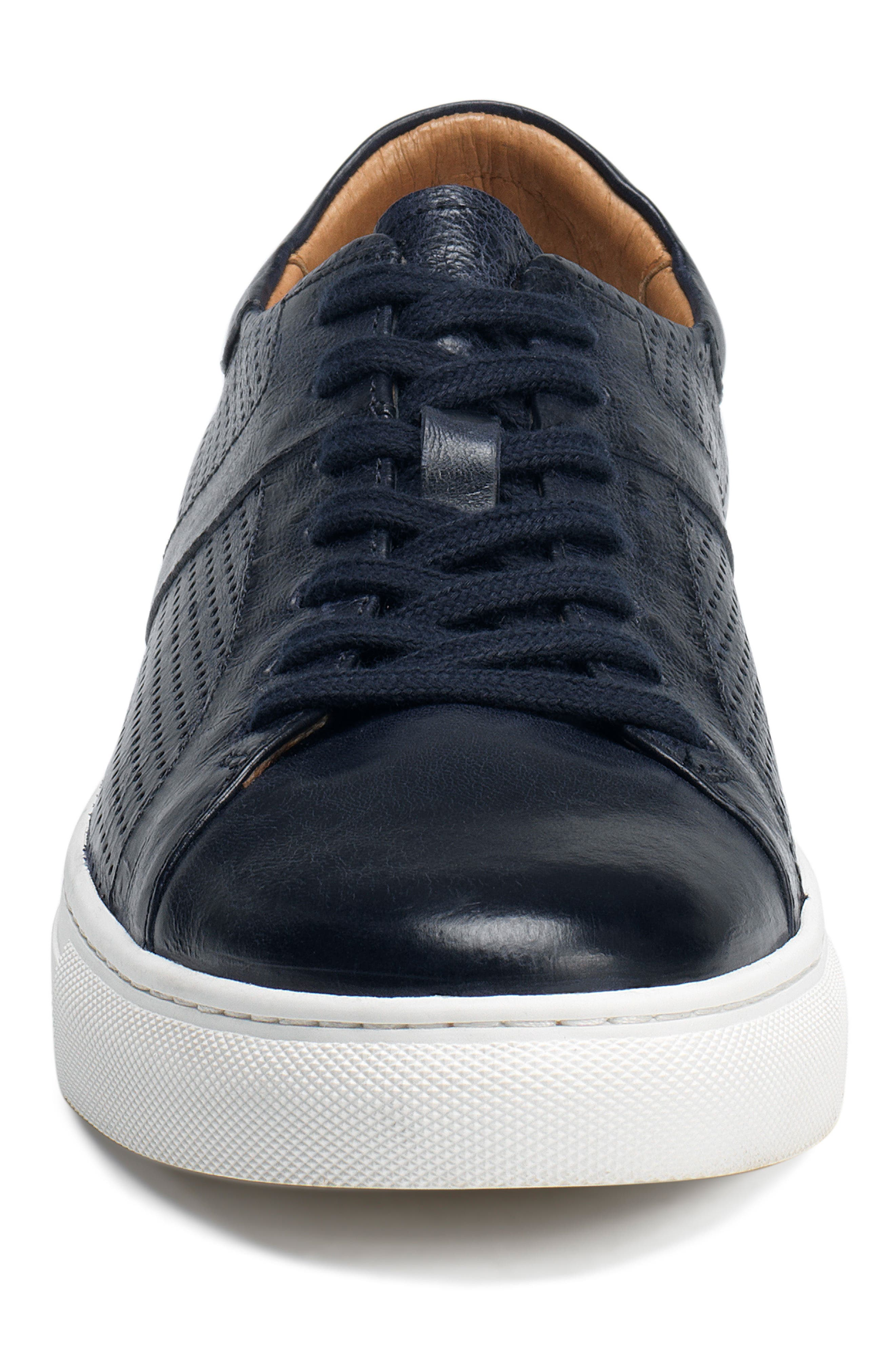 Aaron Sneaker,                             Alternate thumbnail 4, color,                             Navy Leather