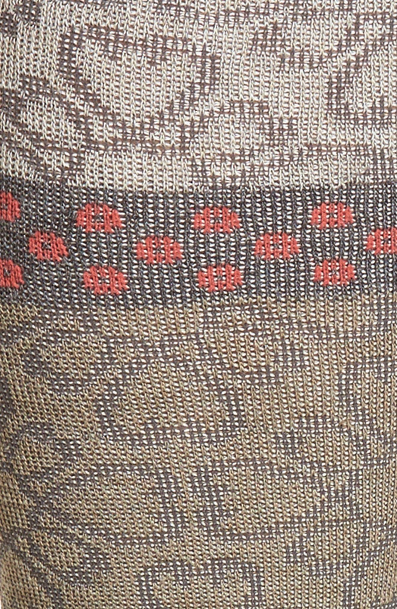 Botanical Compression Socks,                             Alternate thumbnail 2, color,                             Khaki