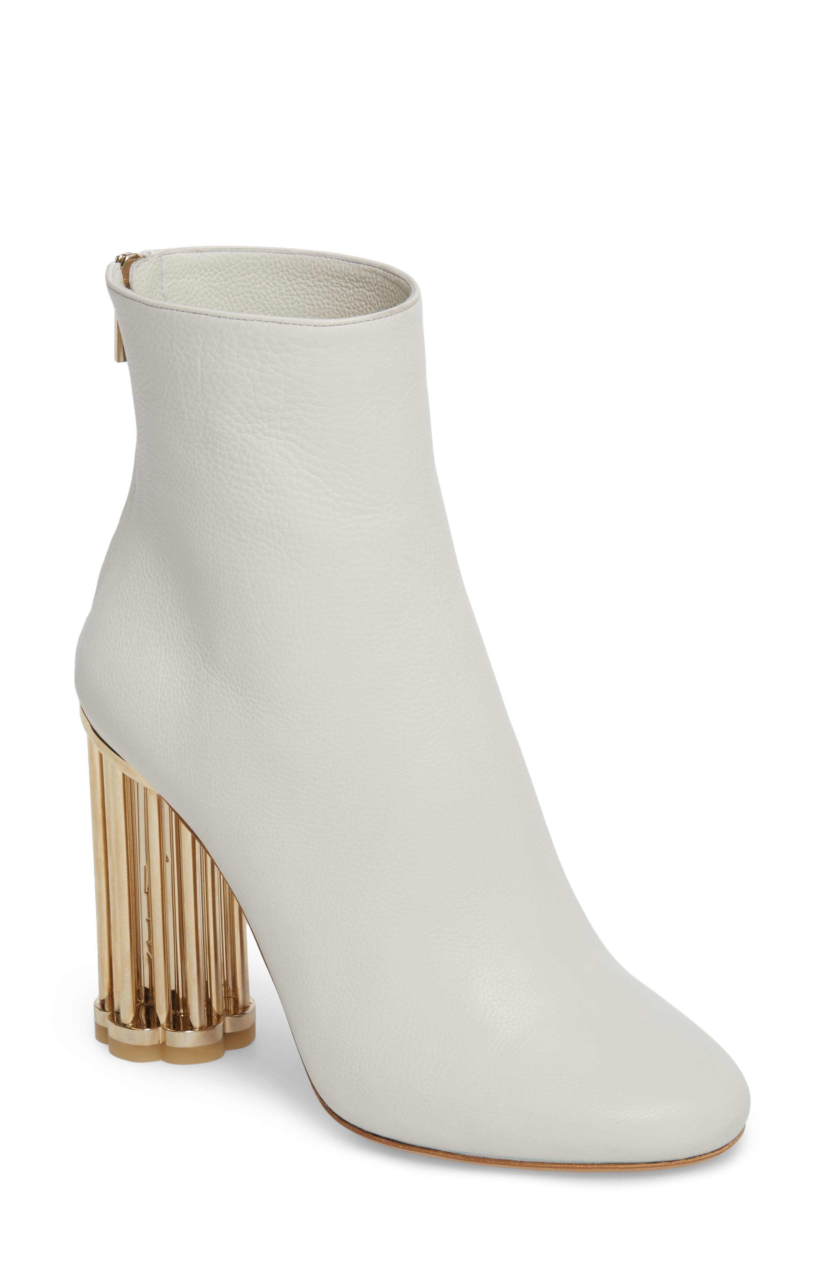 Salvatore Ferragamo Coriano Statement Heel Bootie (Women)