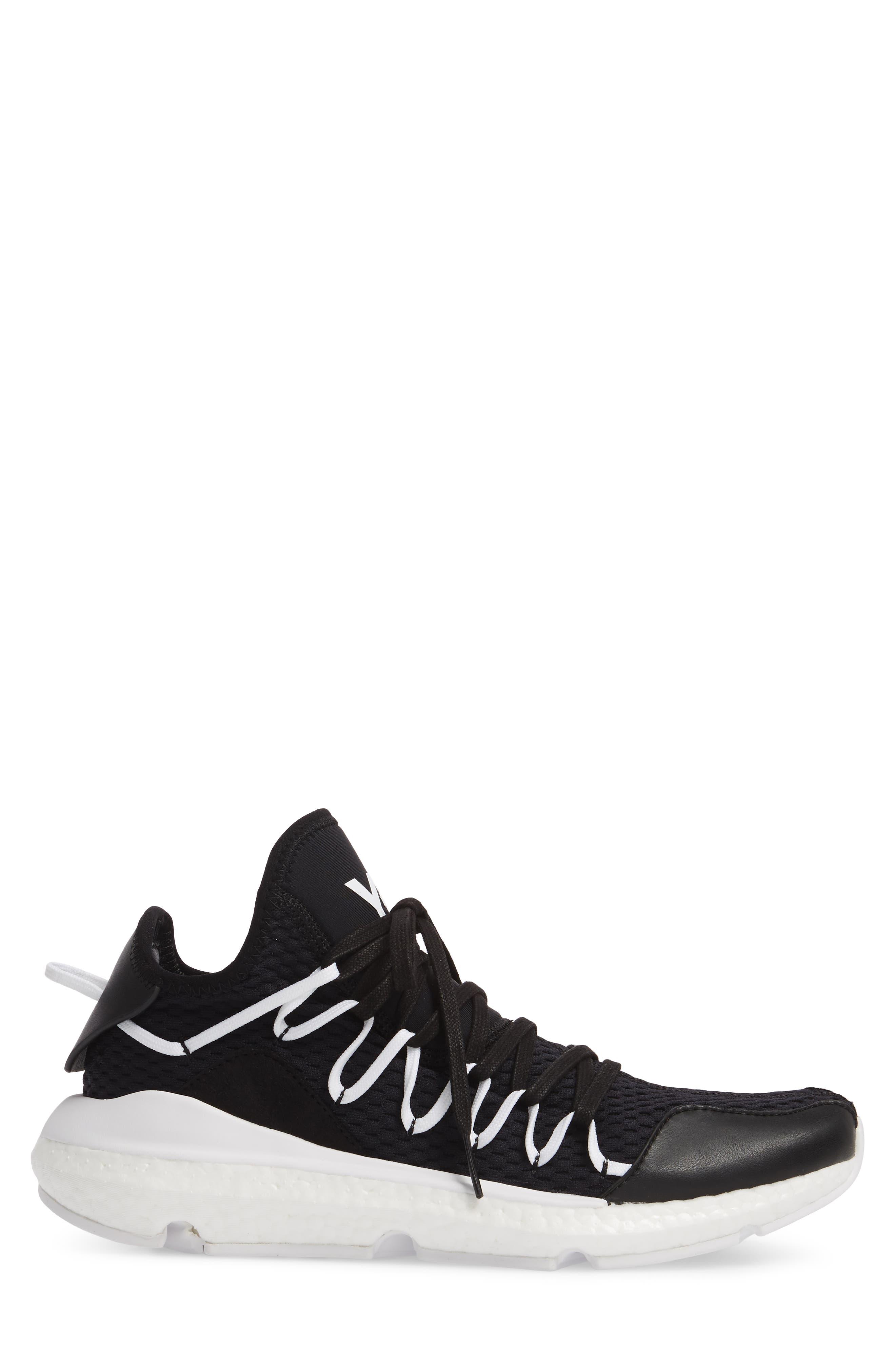x adidas Kusari Sneaker,                             Alternate thumbnail 3, color,                             Black