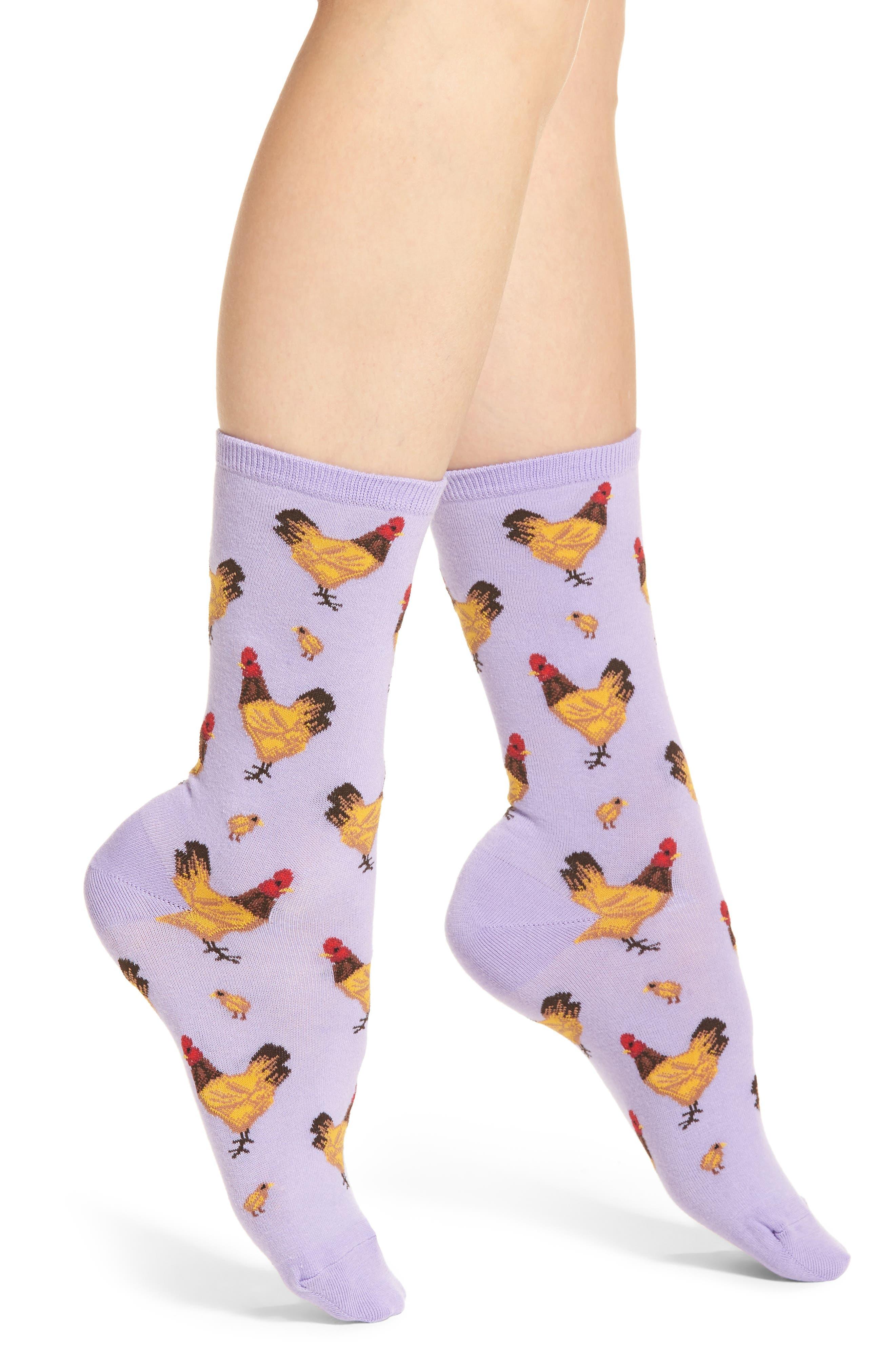 Hot Sox Chicken Crew Socks