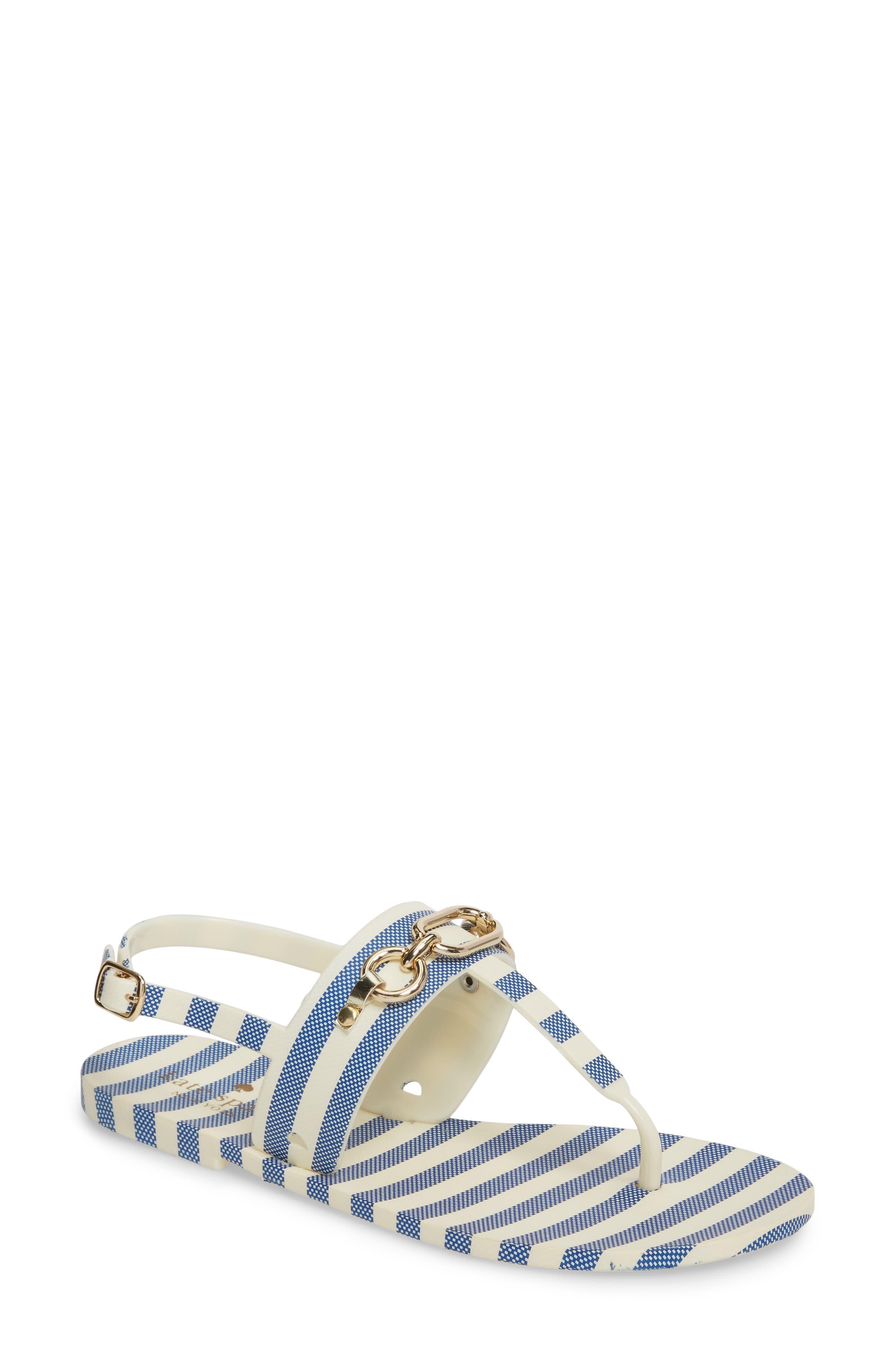 polly slingback sandal,                         Main,                         color, Blue/ Cream