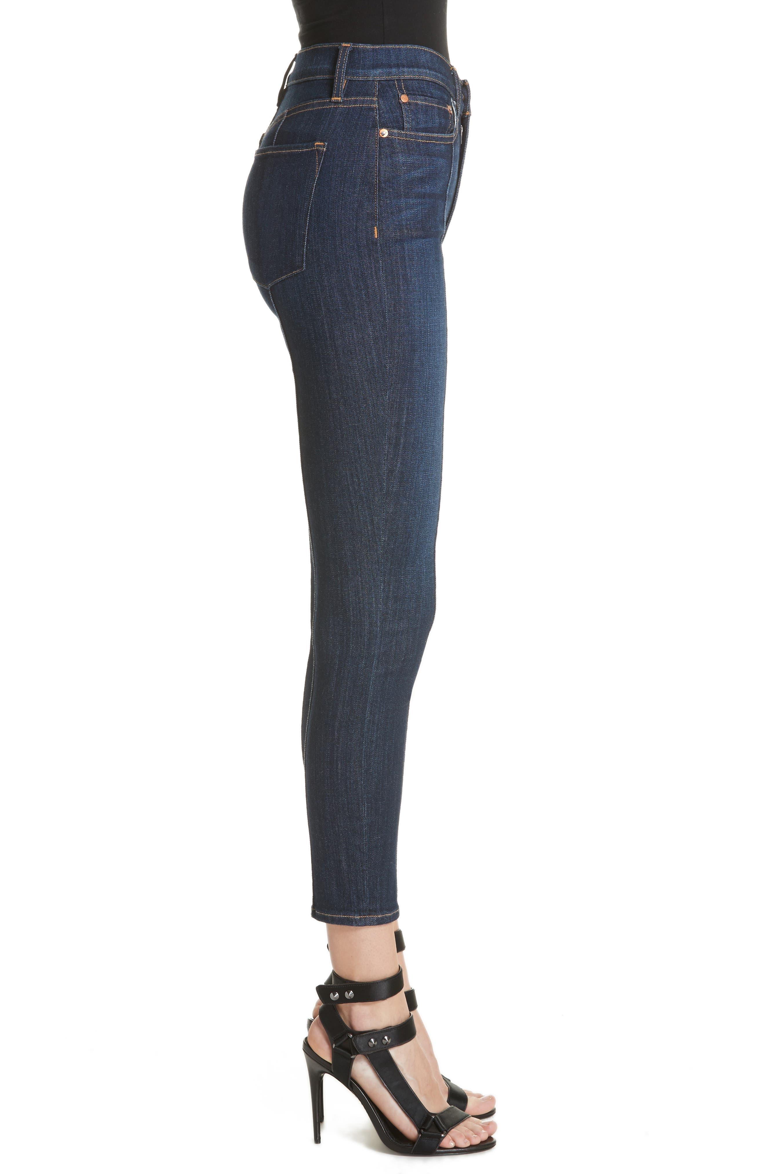 AO.LA Good High Waist Pintuck Skinny Jeans,                             Alternate thumbnail 3, color,                             Dream On