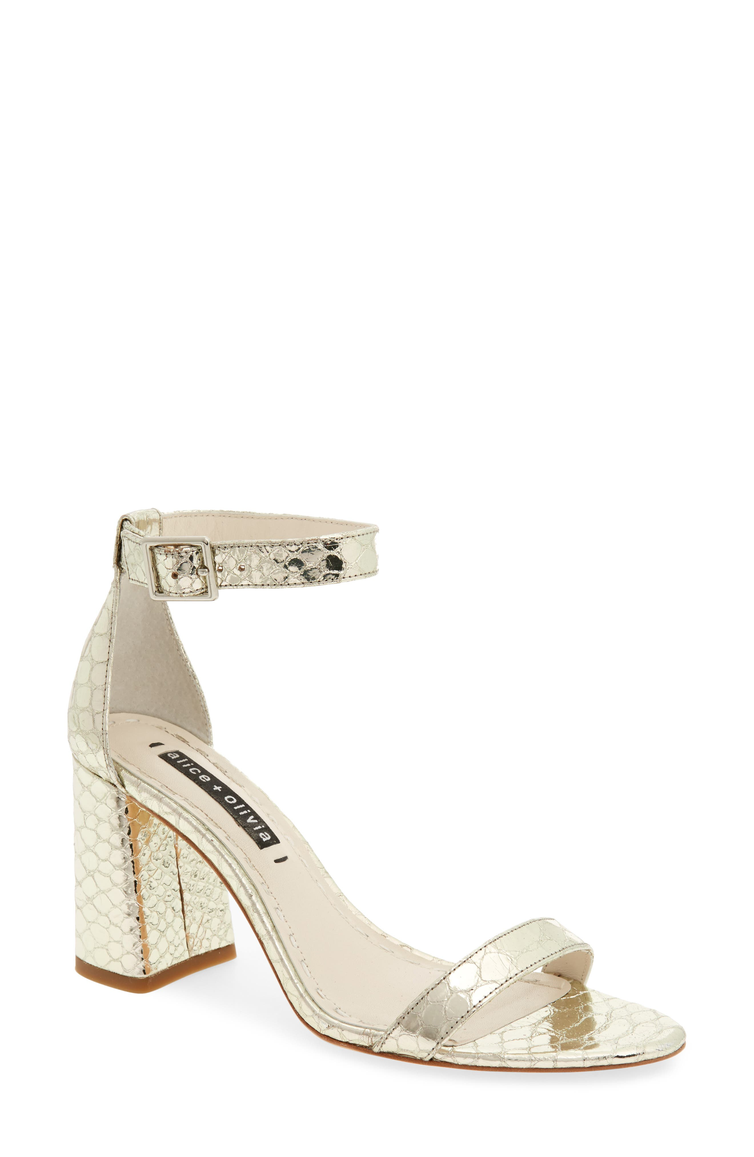 Alice + Olivia Lillian Ankle Strap Sandal (Women)