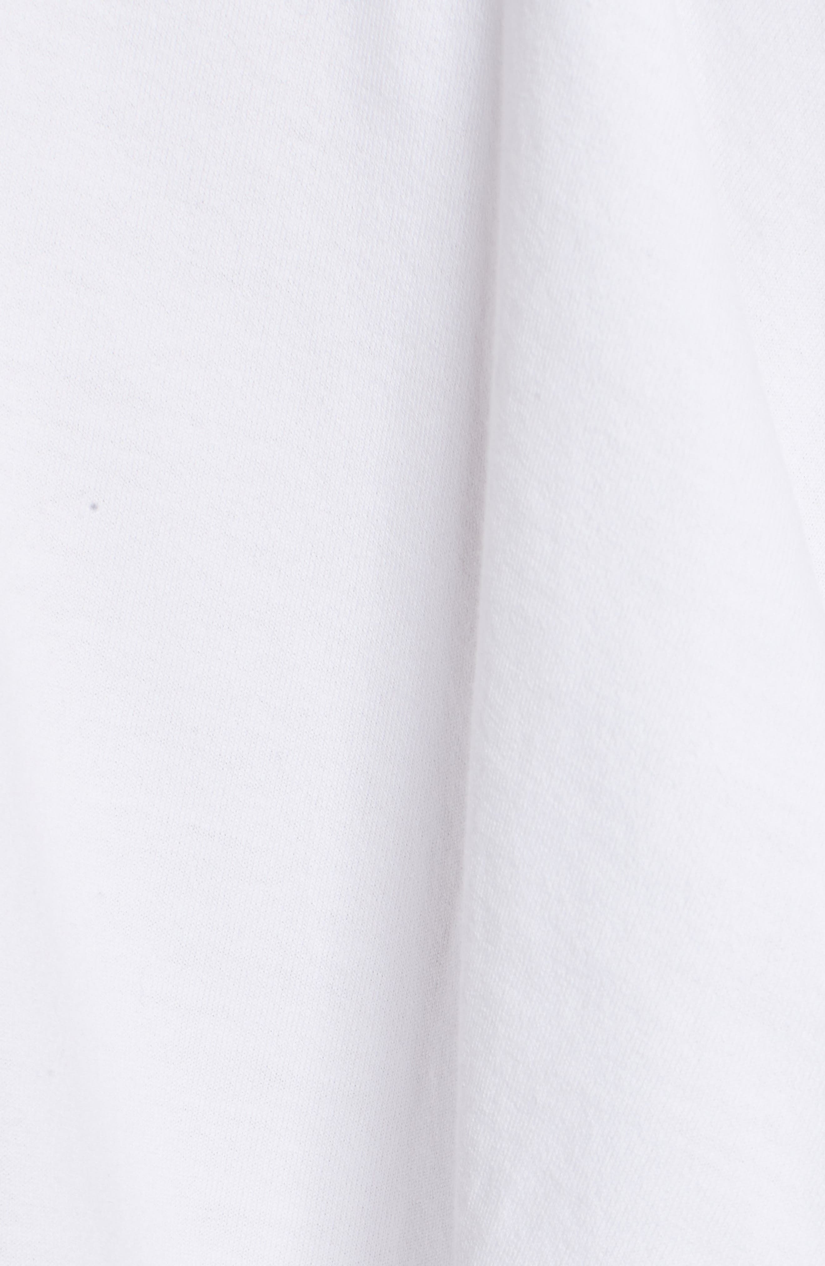 Tie Front Tee,                             Alternate thumbnail 5, color,                             White